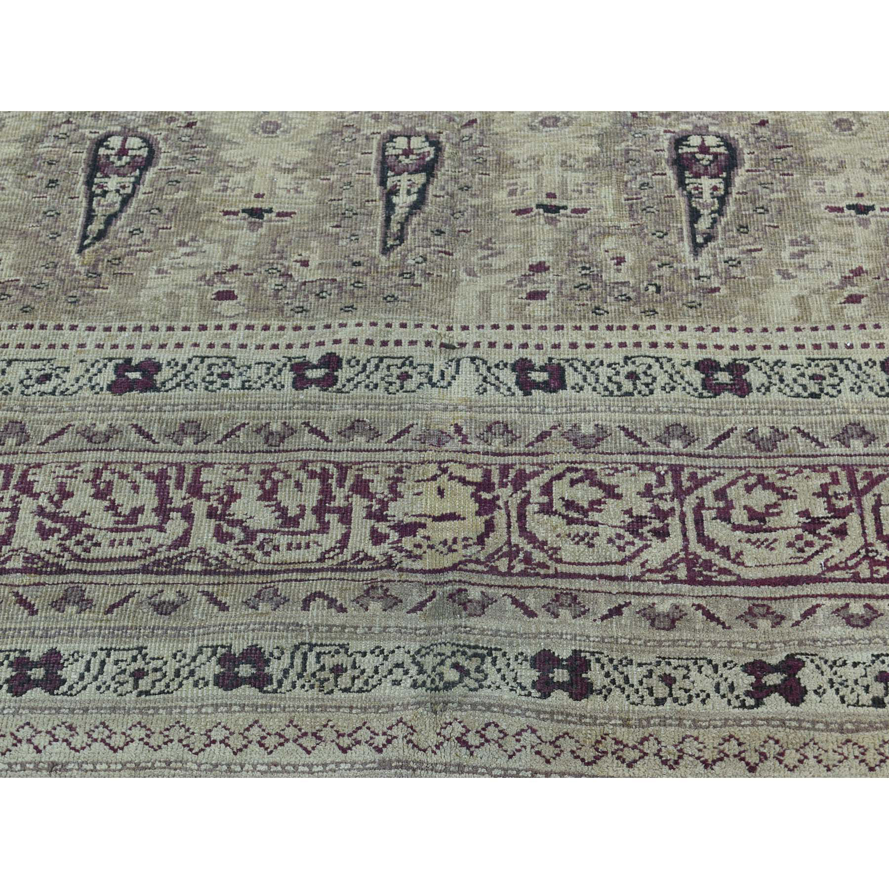 8-x10-8  Antique Mughal Agra Paisley Design Excellent Condition Rug