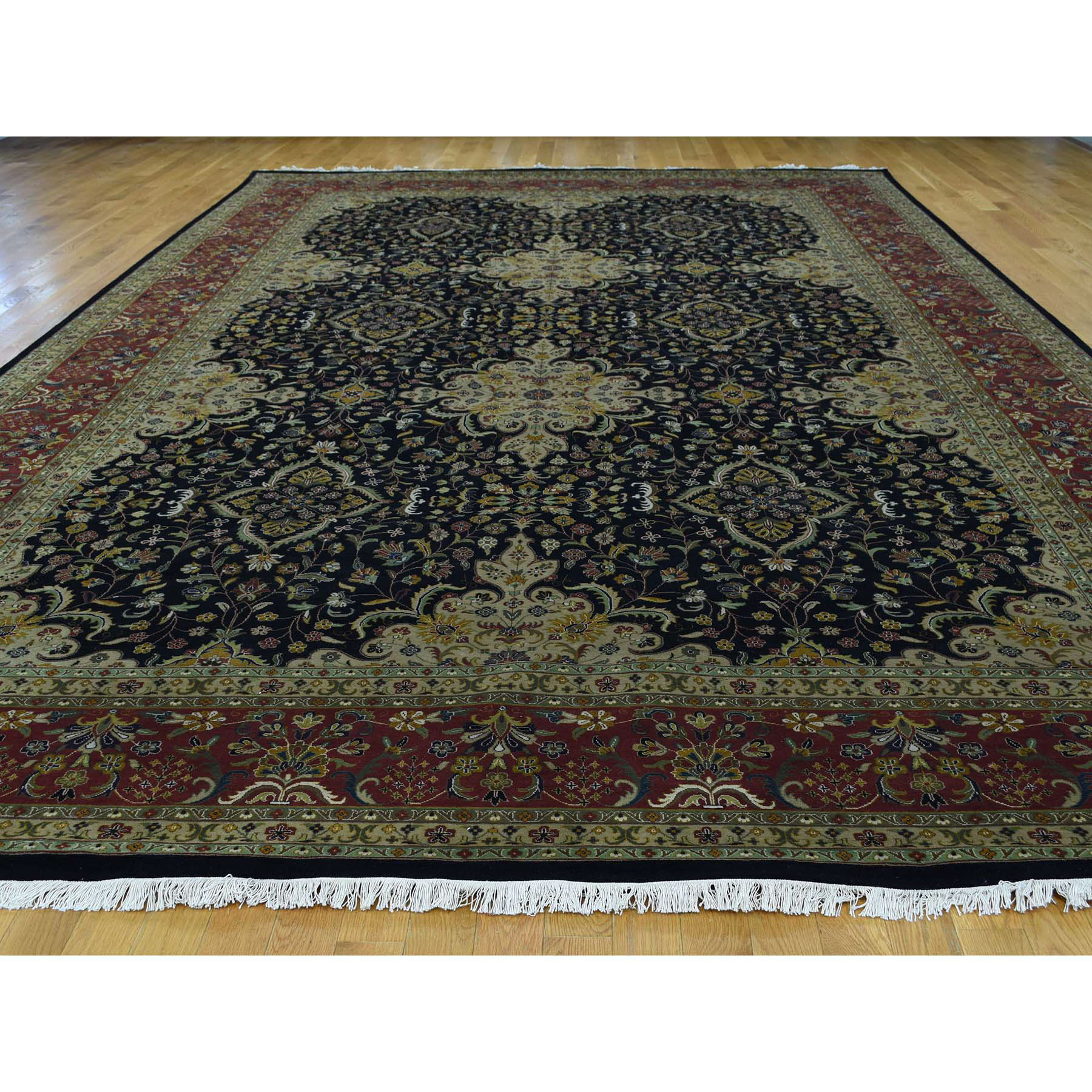 10-x15-10  Hand-Knotted Kashan Revival 300 Kpsi New Zealand Wool Gallery