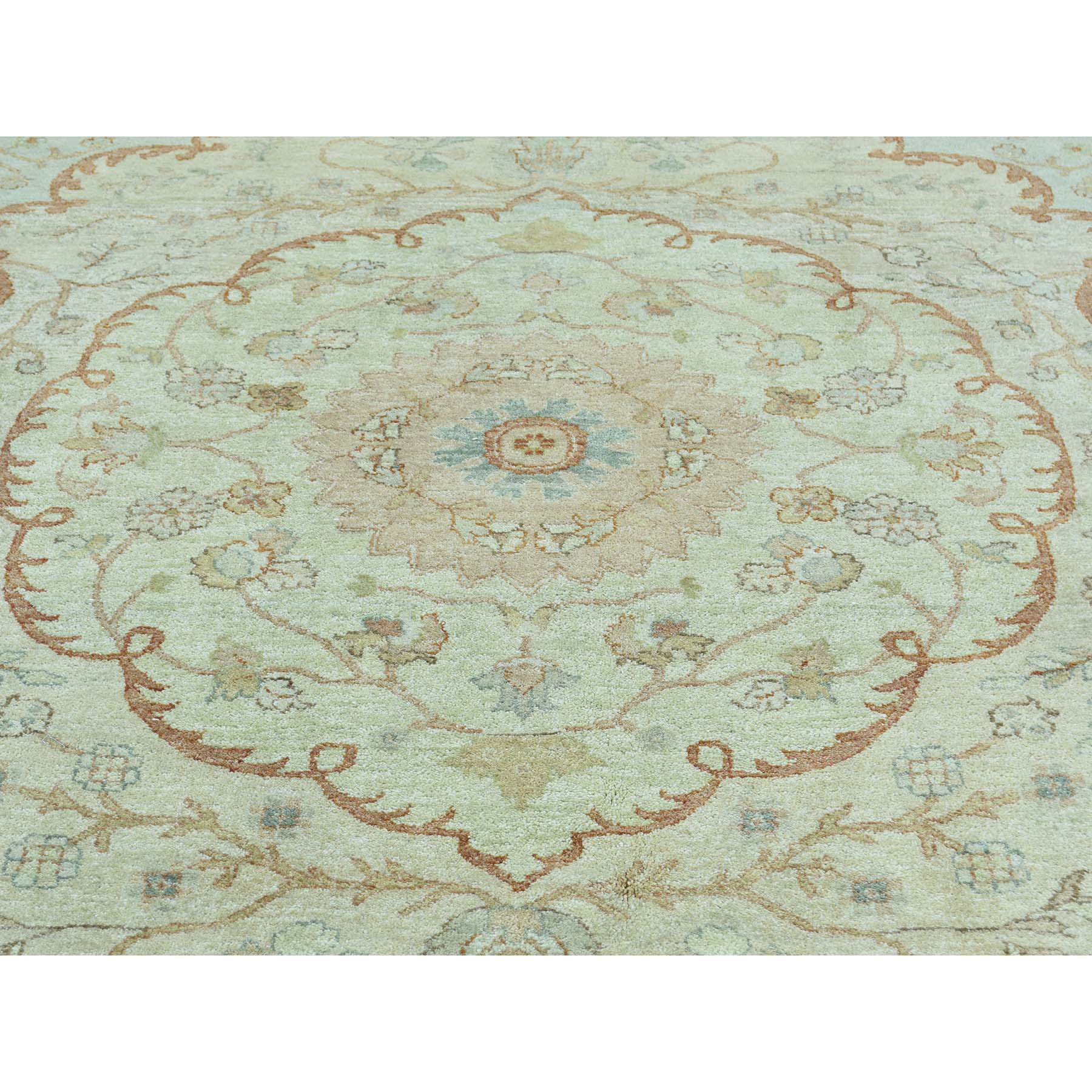 8-1 x10-5  Antiqued Tabriz with Pastel Colors Hand-Knotted Oriental Rug
