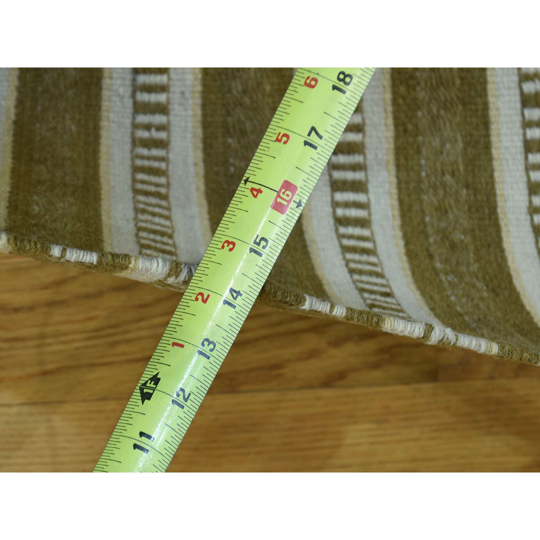 4-x6-2  Hand-Woven Striped Durie Kililm Flat Weave Oriental Rug