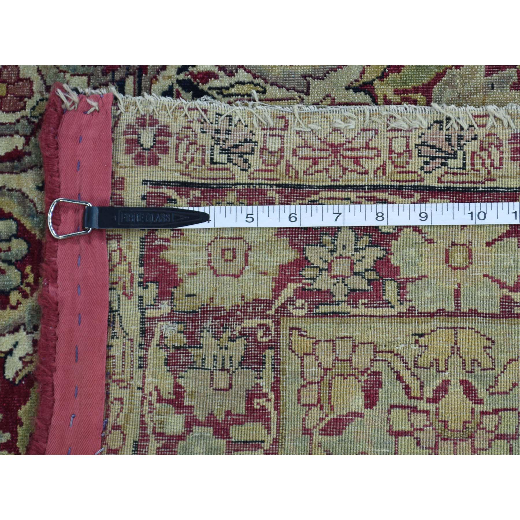 10-9 x12- Antique Lavar Kerman with Natural Cranberry Dyes Oriental Rug