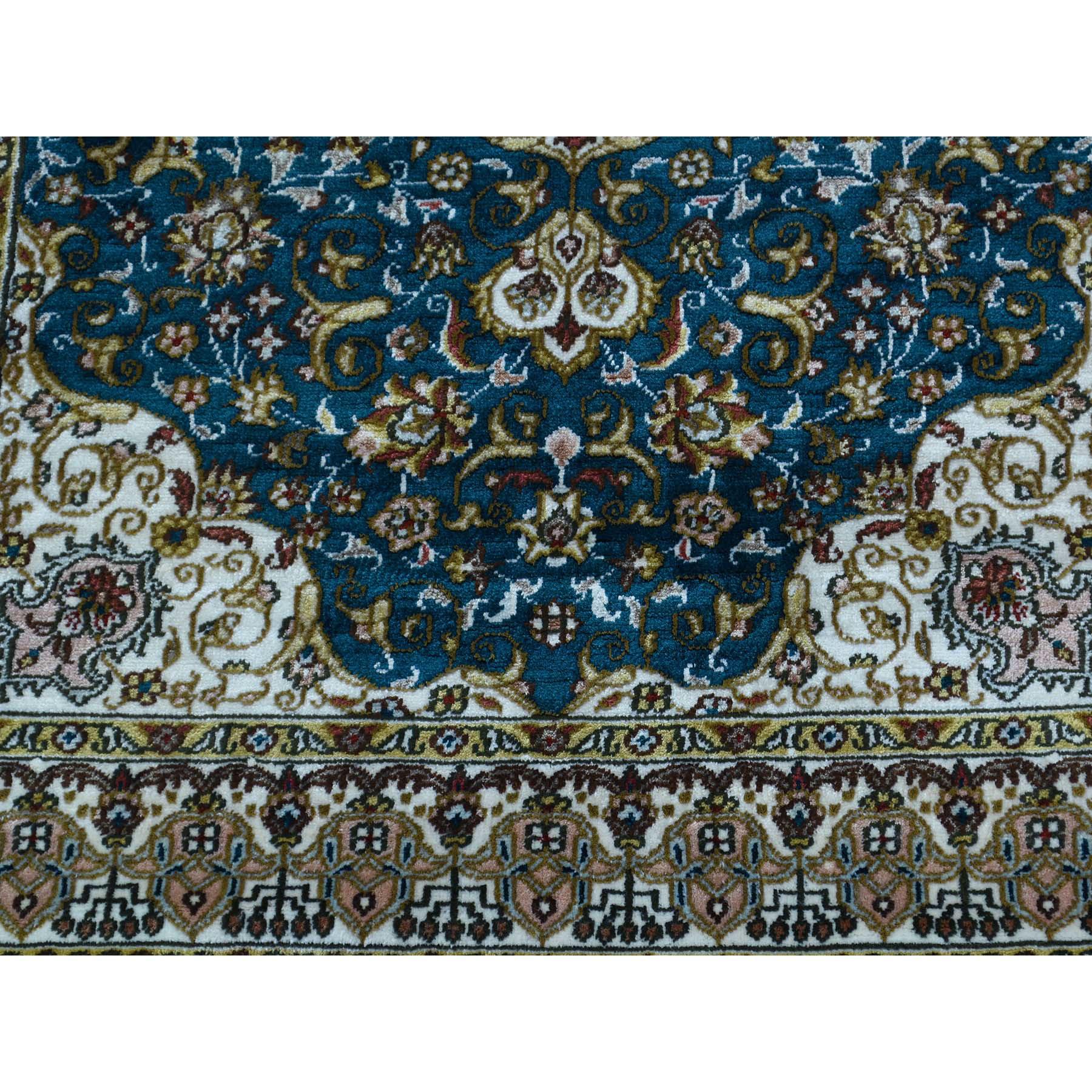 2-1 x3- 600 Kpsi Pure Silk Tabriz Hand-Knotted Oriental Rug