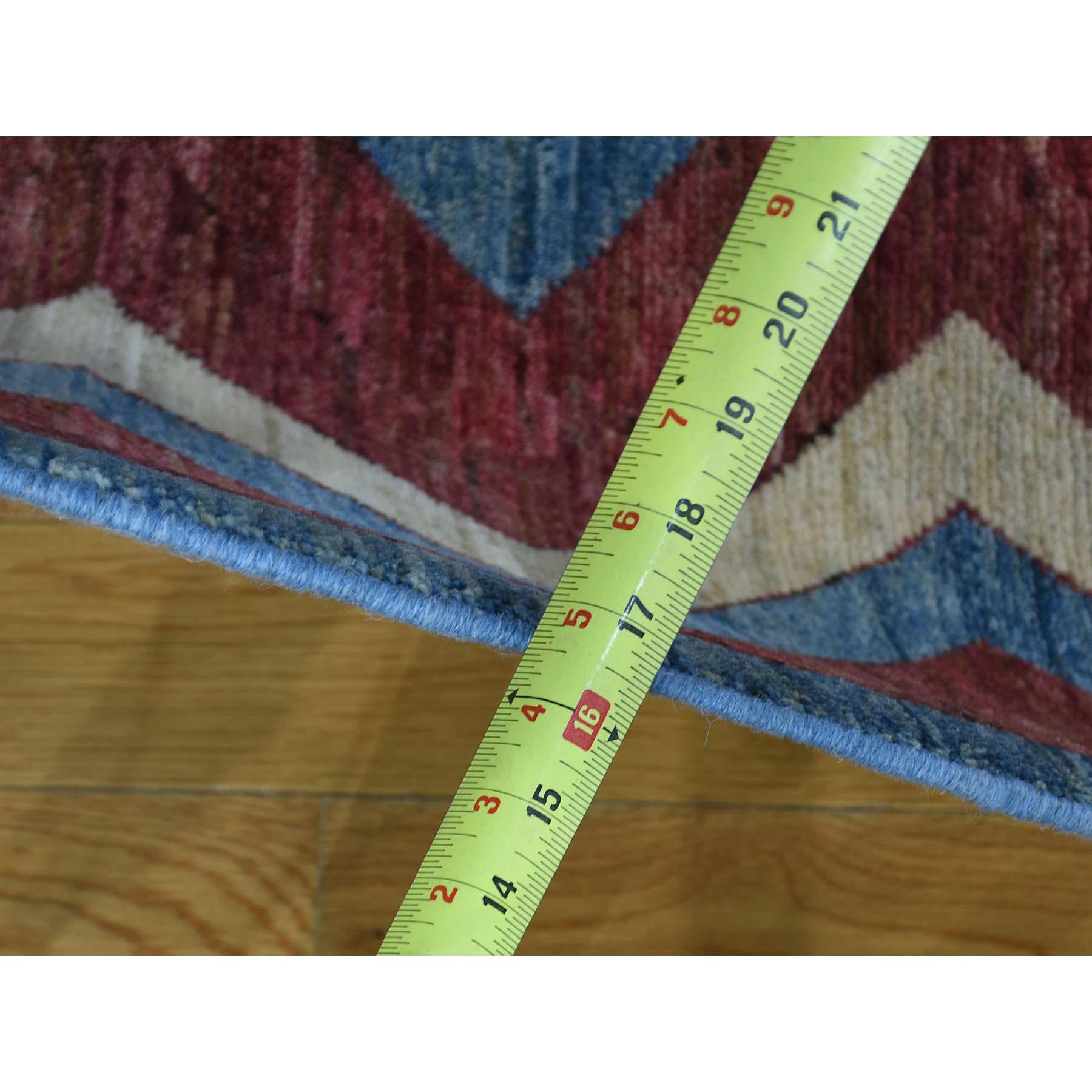 8-x10-4  Hand Woven Peshawar Gabbeh with Modern Design Oriental Rug