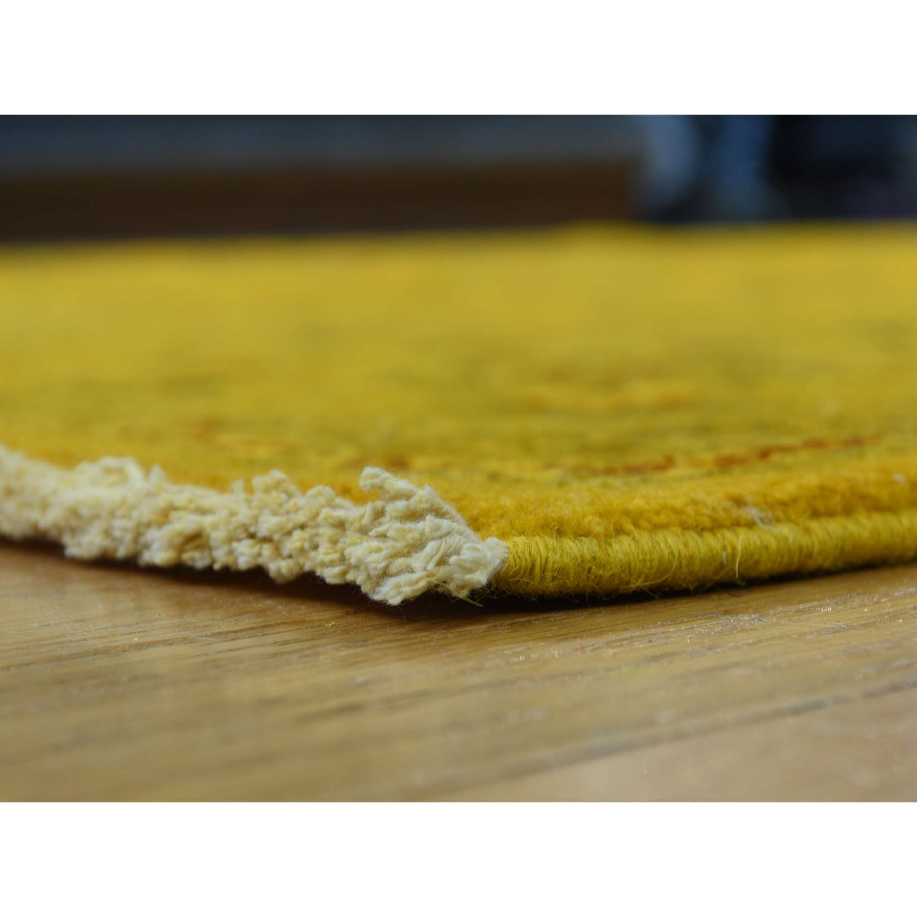 8-2 x10-1  Pure Wool Hand-Knotted Overdyed Golden Brown Oriental Rug