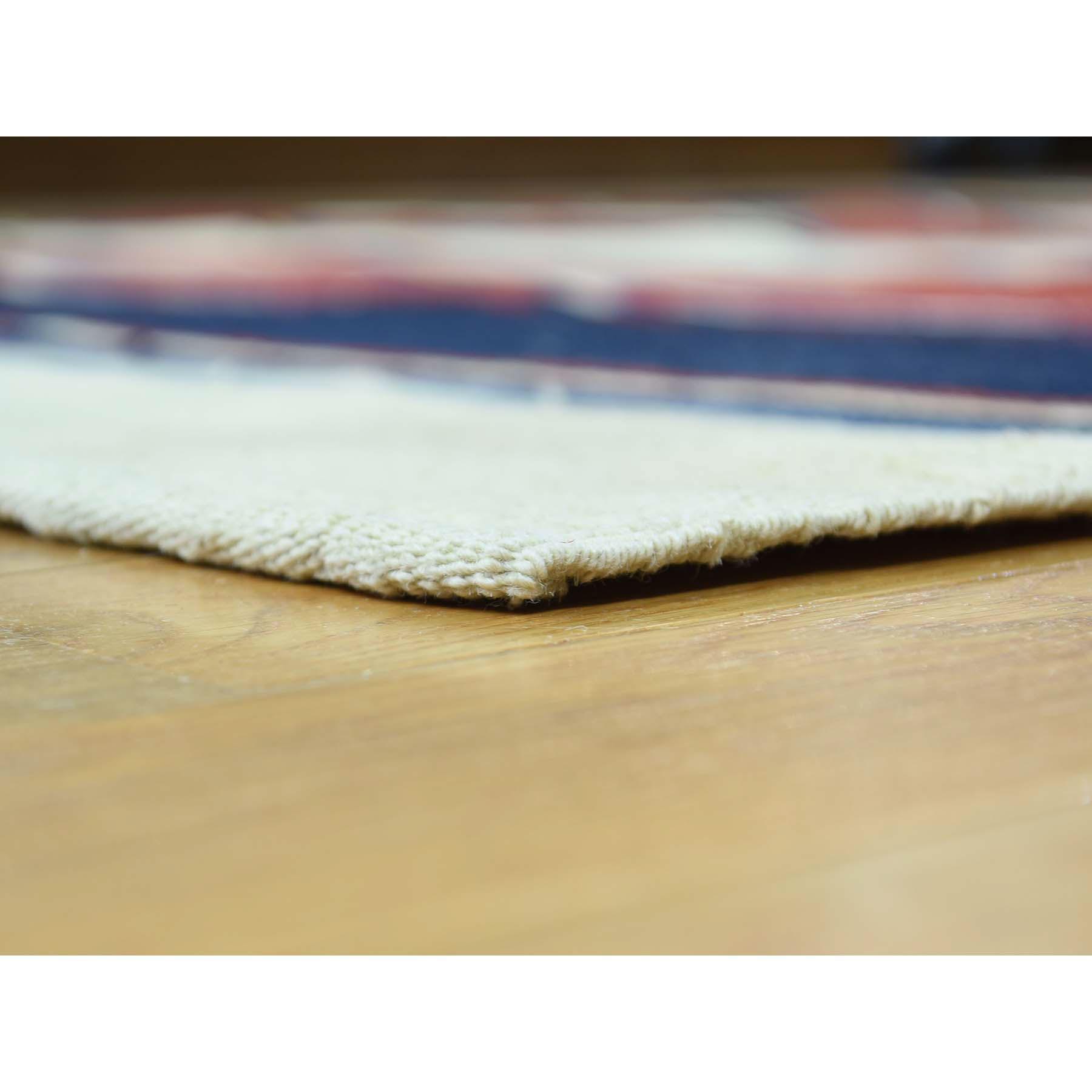 6-5 x9- Hand Woven Flat Weave Striped Qashqai Kilim Oriental Rug