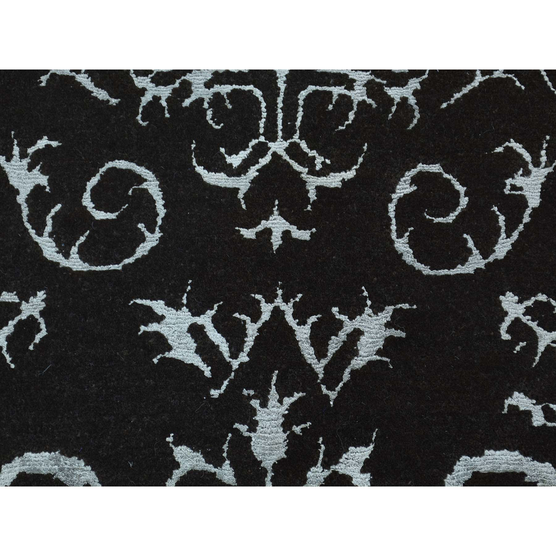 2-x2-10  Modern Wool and Silk Damask Design Hand-Knotted Rug