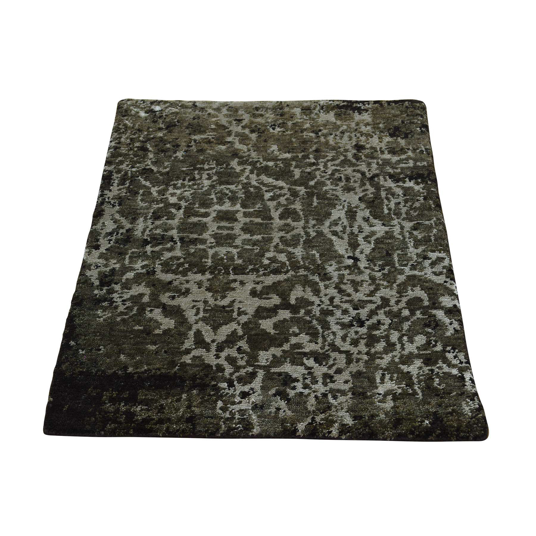 """2'X2'9"""" Modern Wool And Silk Hand-Knotted Abstract Design Oriental Rug moac6b0b"""