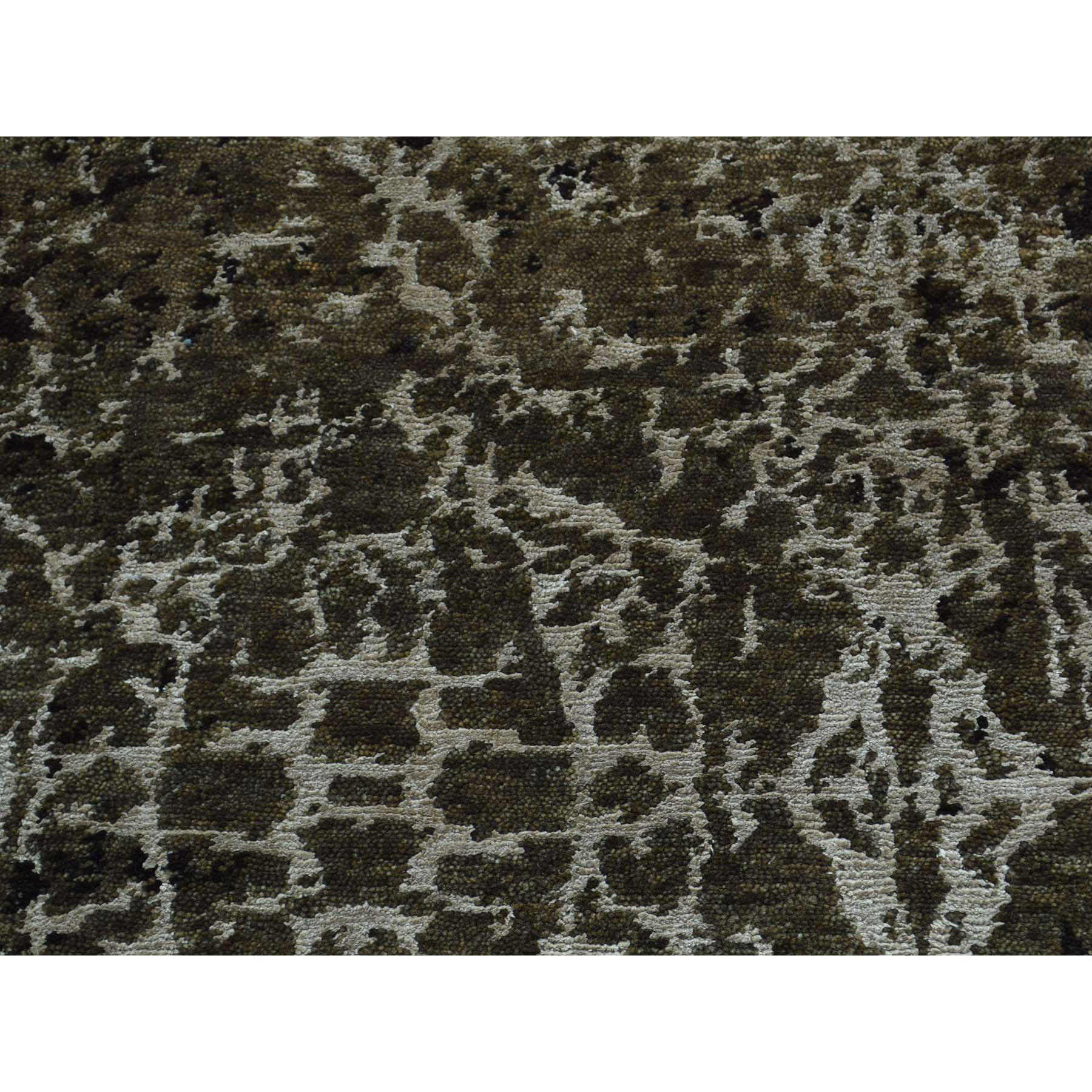 2-x2-9  Modern Wool and Silk Hand-Knotted Abstract Design Oriental Rug