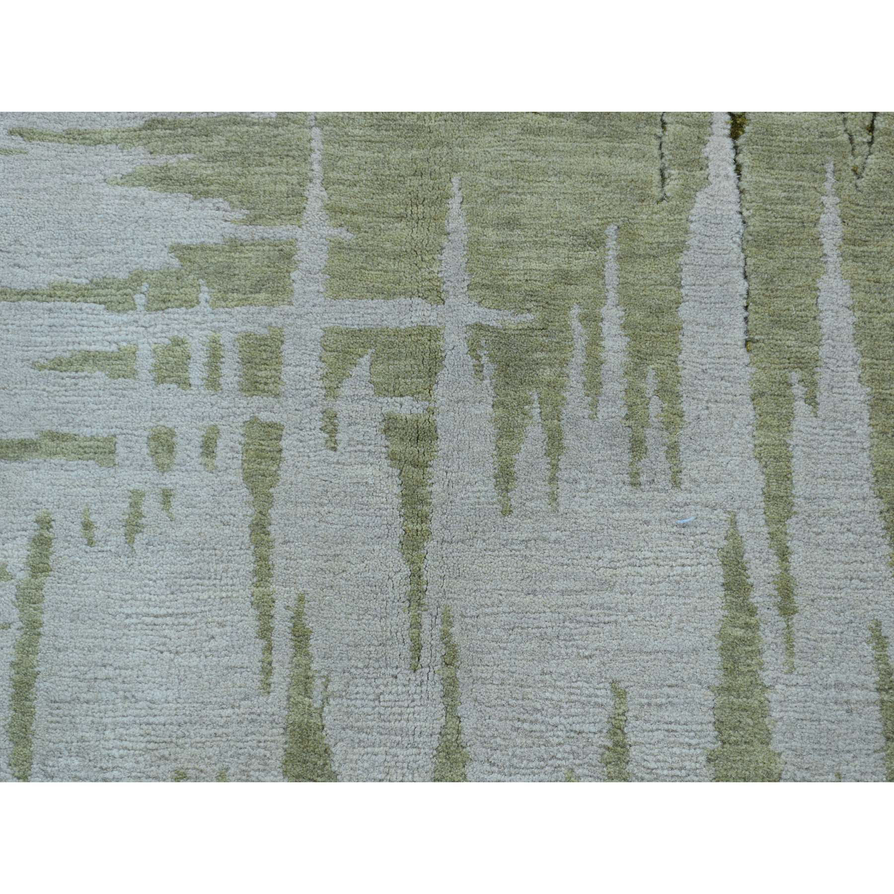 2-x2- Abstract Design Modern Wool and Silk Hand-Knotted Oriental Rug