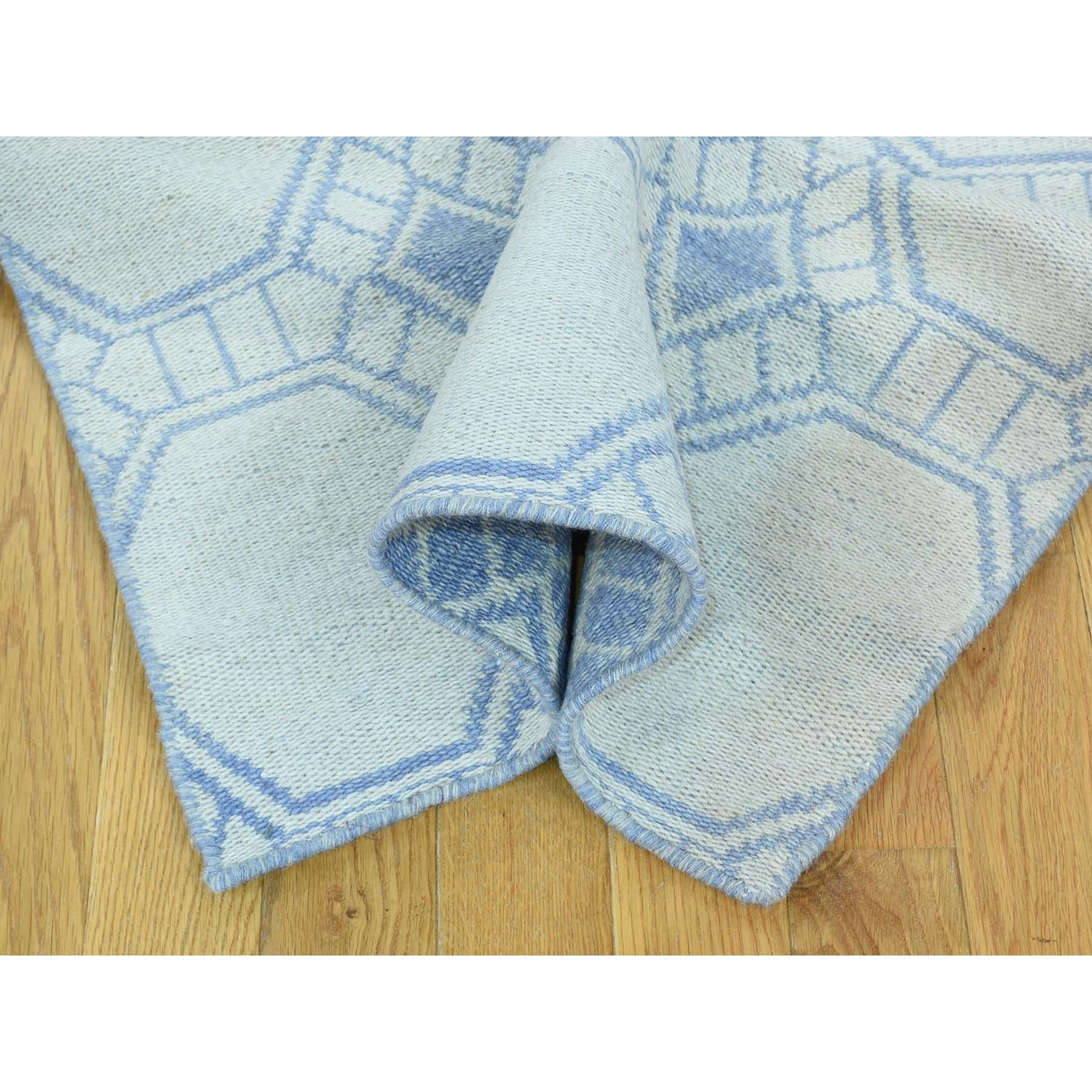 2-6 x10- Reversible Hand-Woven Flat Weave Durie Kilim Runner Rug