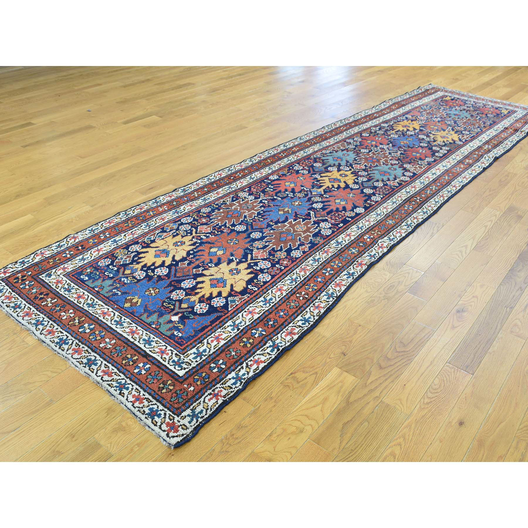 3-5 x12-9  Full Pile Antique Mint Condition Northwest Persian Wide Runner