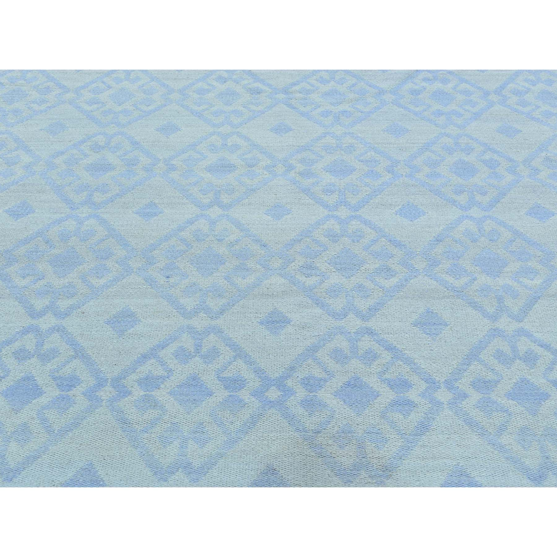 7-10 x7-10  Hand-Woven Flat Weave Reversible Durie Kilim Square Rug