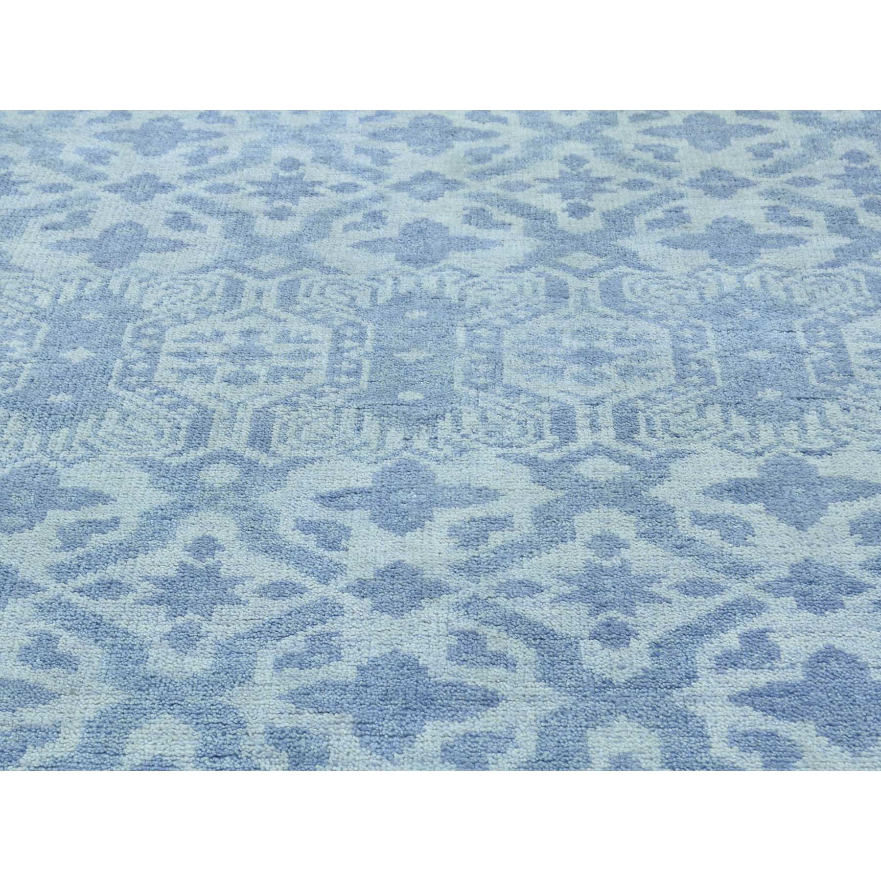 8-1 x10- Pure Wool Hand-Knotted Tone-on-Tone Oriental Rug