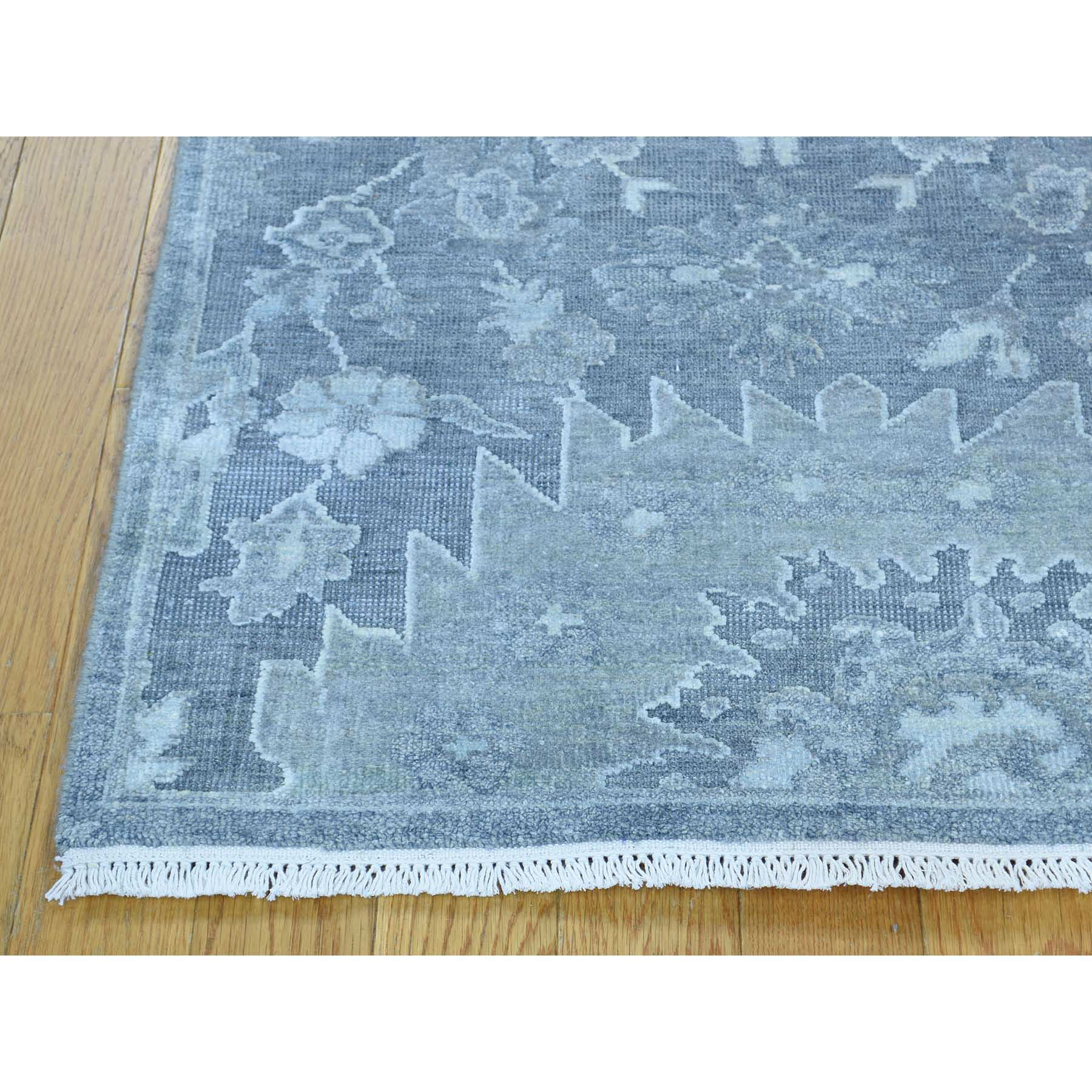 2-5 x6-3  Pure Silk with Oxidized Wool Oushak Design Oriental Runner Rug
