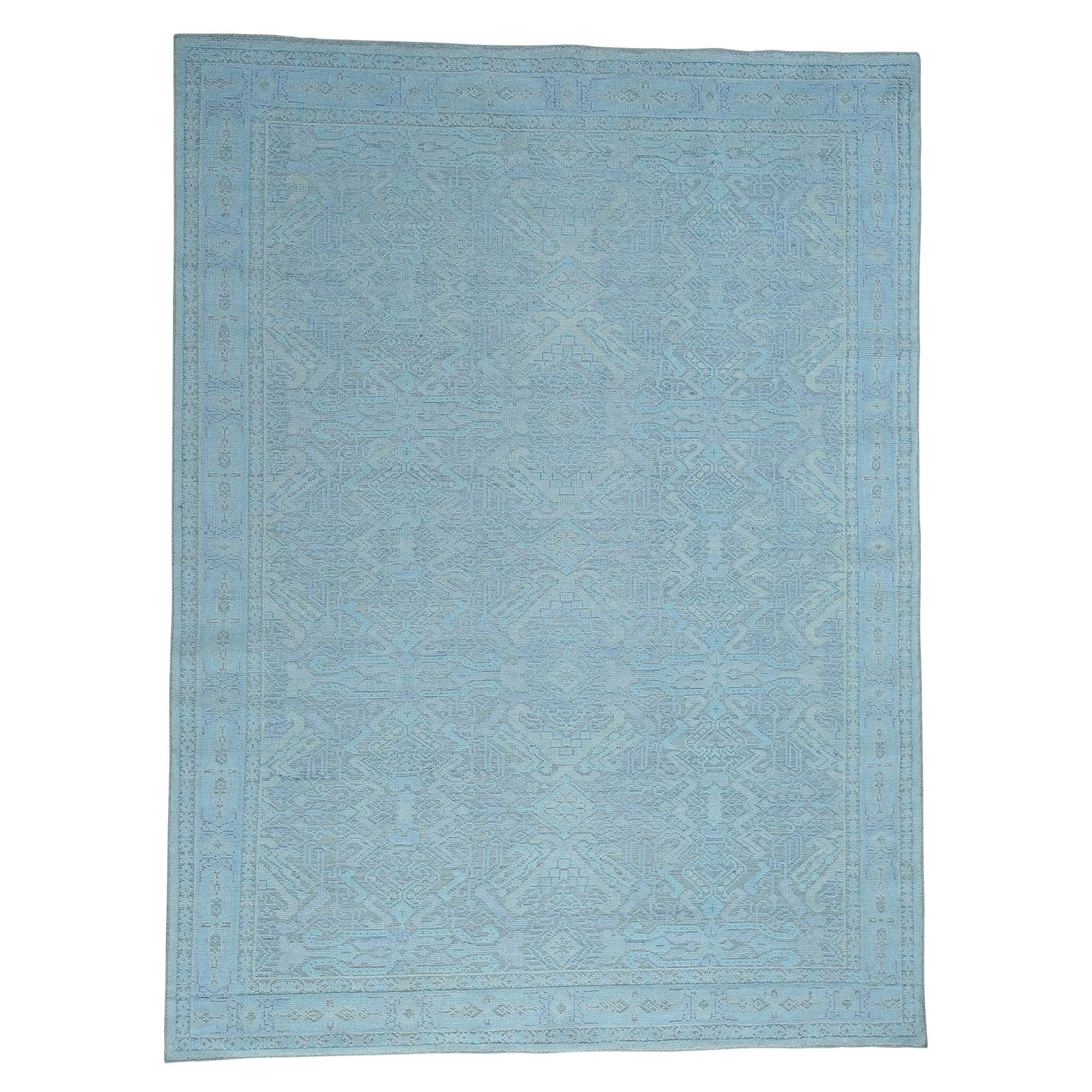 9'X12' Seafoam Green Oushak Design Oxidized Wool Hand-Knotted Rug moac6dc6