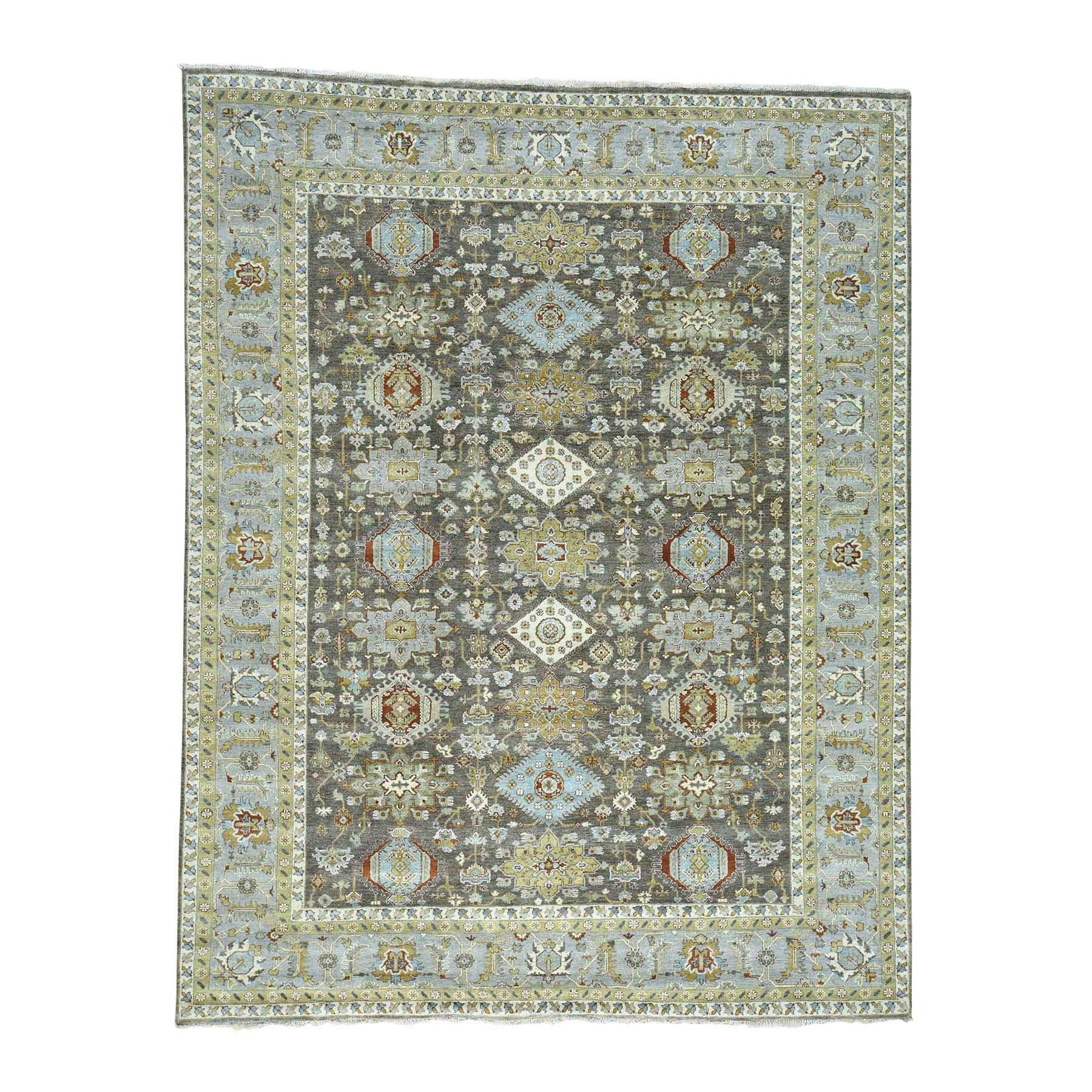 "10'X13'9"" Hand-Knotted Pure Wool Karajeh Design Oriental Rug moac6ed9"