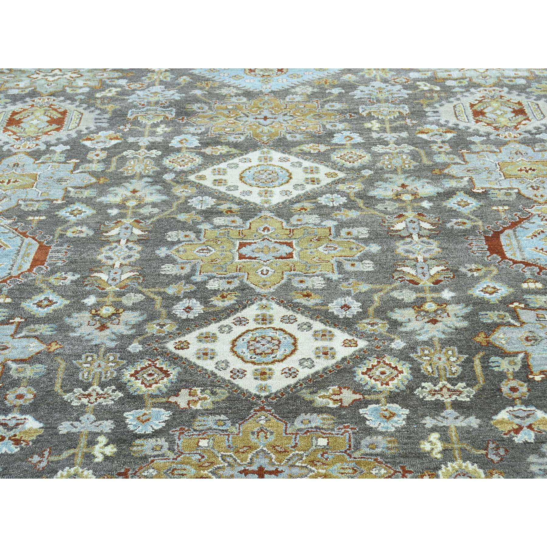 10-x13-9  Hand-Knotted Pure Wool Karajeh Design Oriental Rug