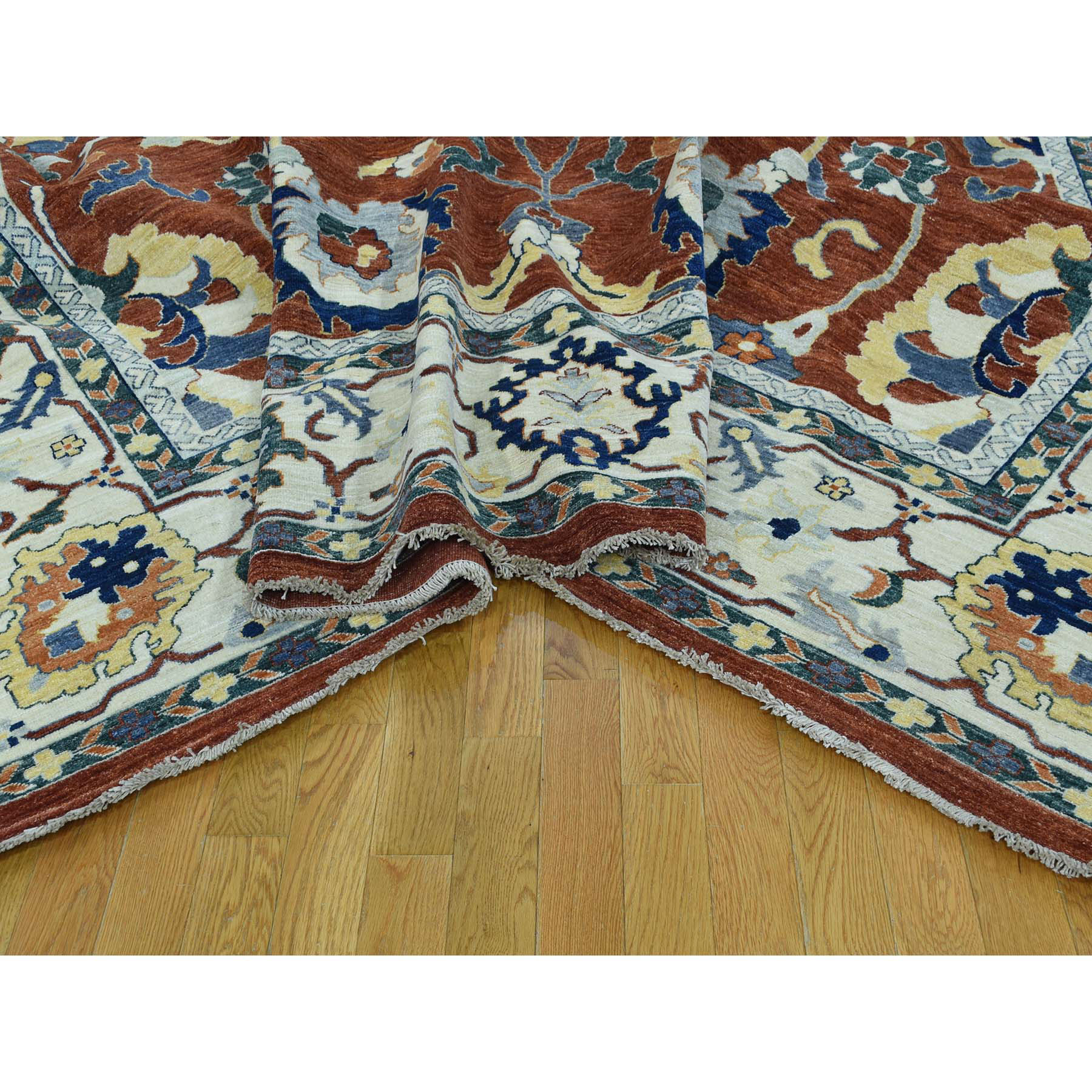 10-x14- Hand-Knotted Pure Wool Peshawar Sultanabad Design Oriental Rug