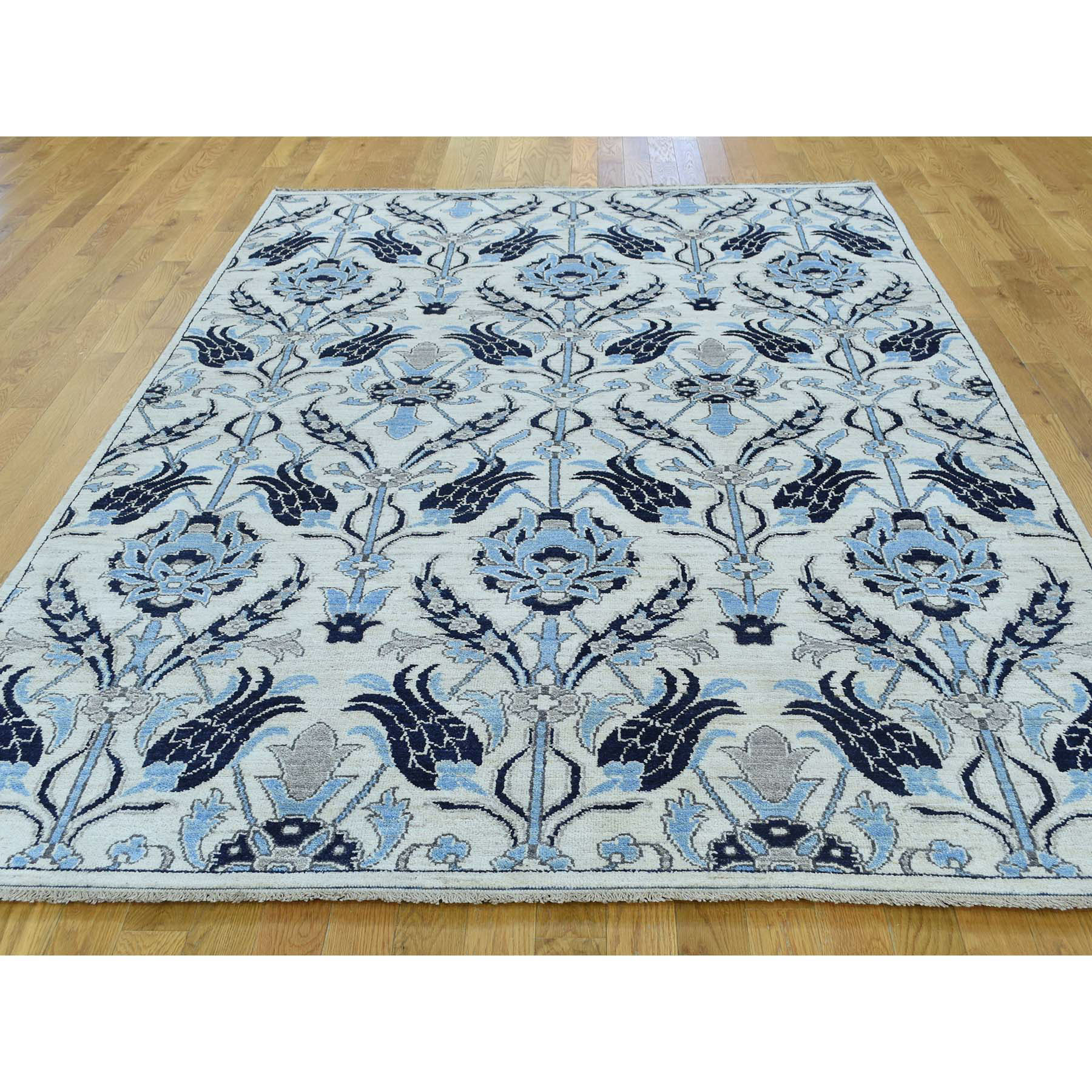 6-x9-1  Hand-Knotted Peshawar Arts and Crafts Design Oriental Rug