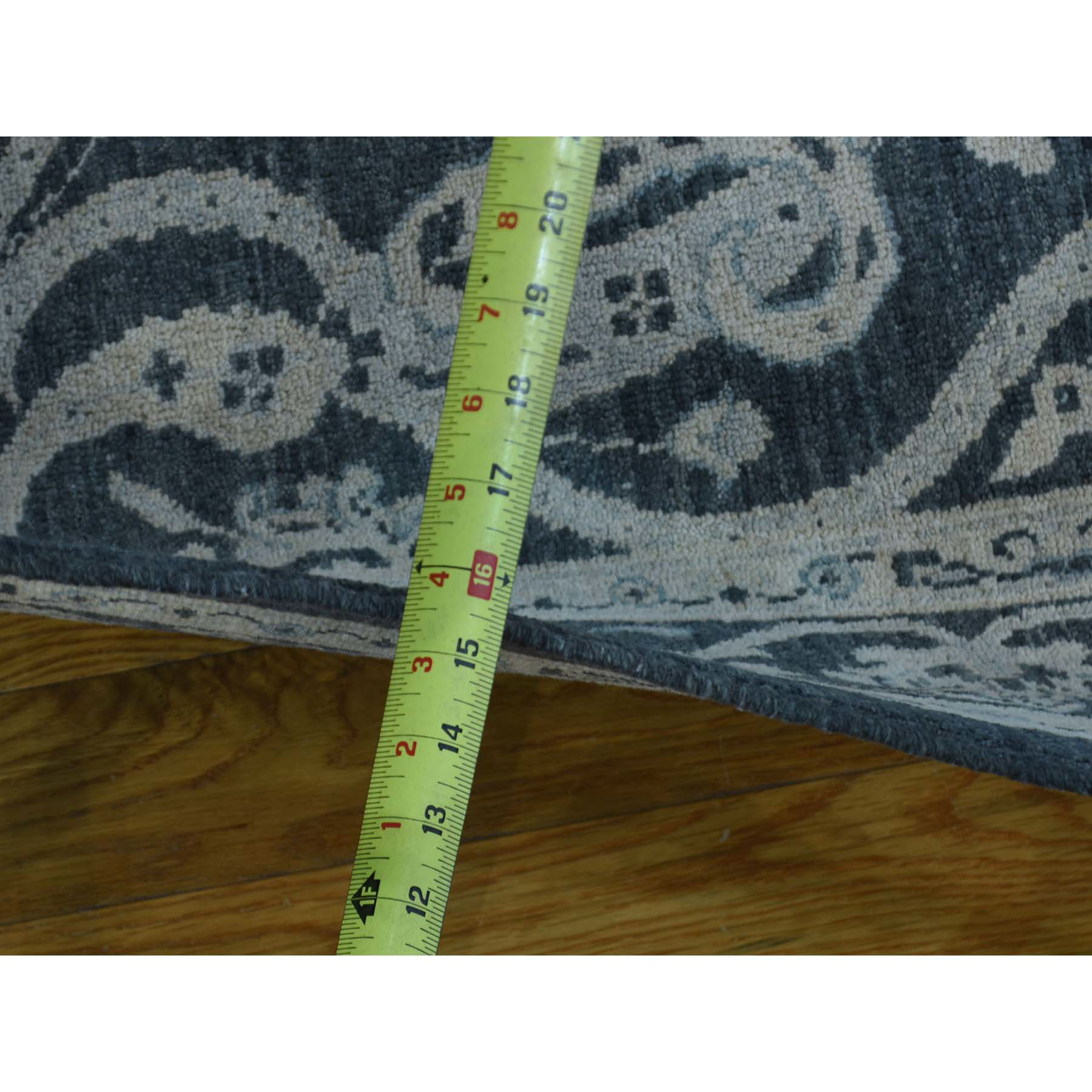 4-x5-10  Tone on Tone Hand-Knotted Pure Wool Peshawar Oriental Rug