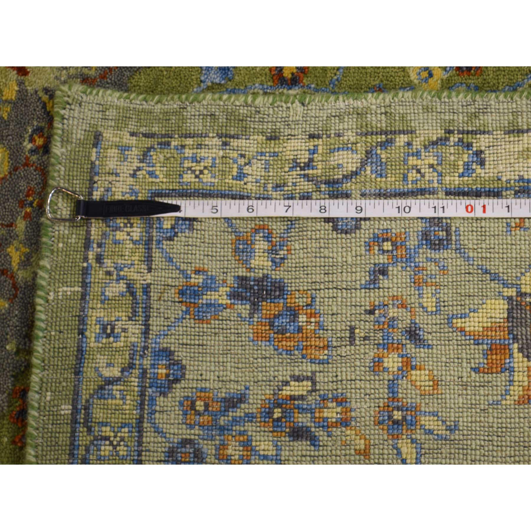 "7'9""x9'10"" Silk and Textured Wool Broken Persian Tabriz Design Rug"