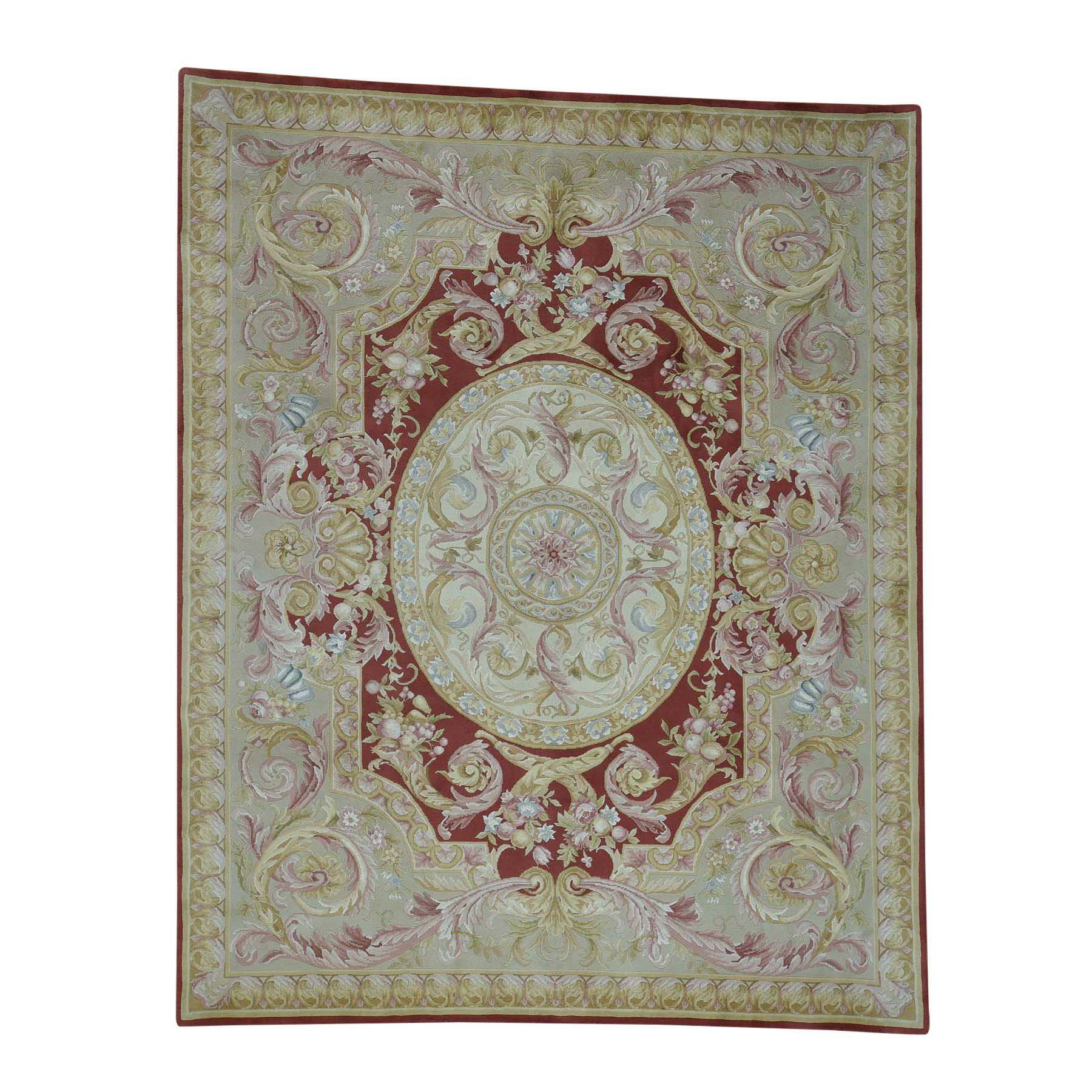 "8'9""X11'9"" Savonnerie Hand-Knotted Thick And Plush Napoleon Iii Rug moac6906"
