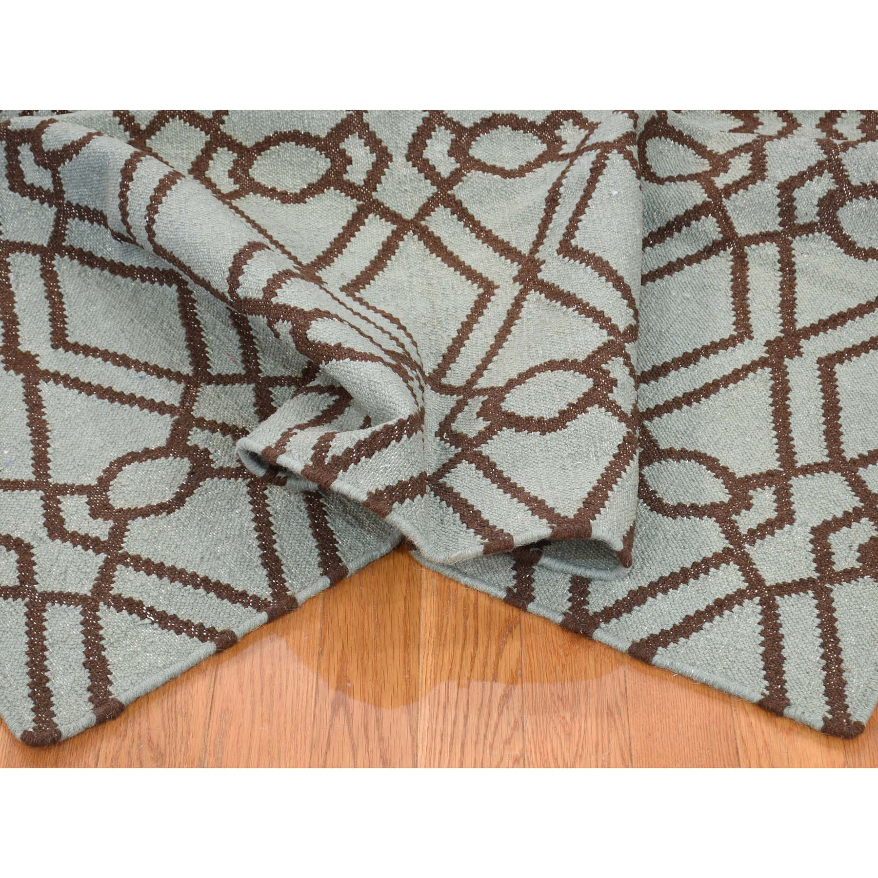 5-5--x7-2-- Hand-Woven Pure Wool Durie Kilim Reversible Oriental Rug