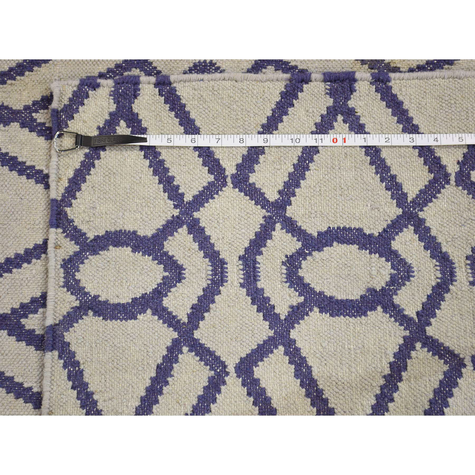 2-8--x5-10-- Flat Weave Reversible Hand Woven Runner Durie Kilim Rug