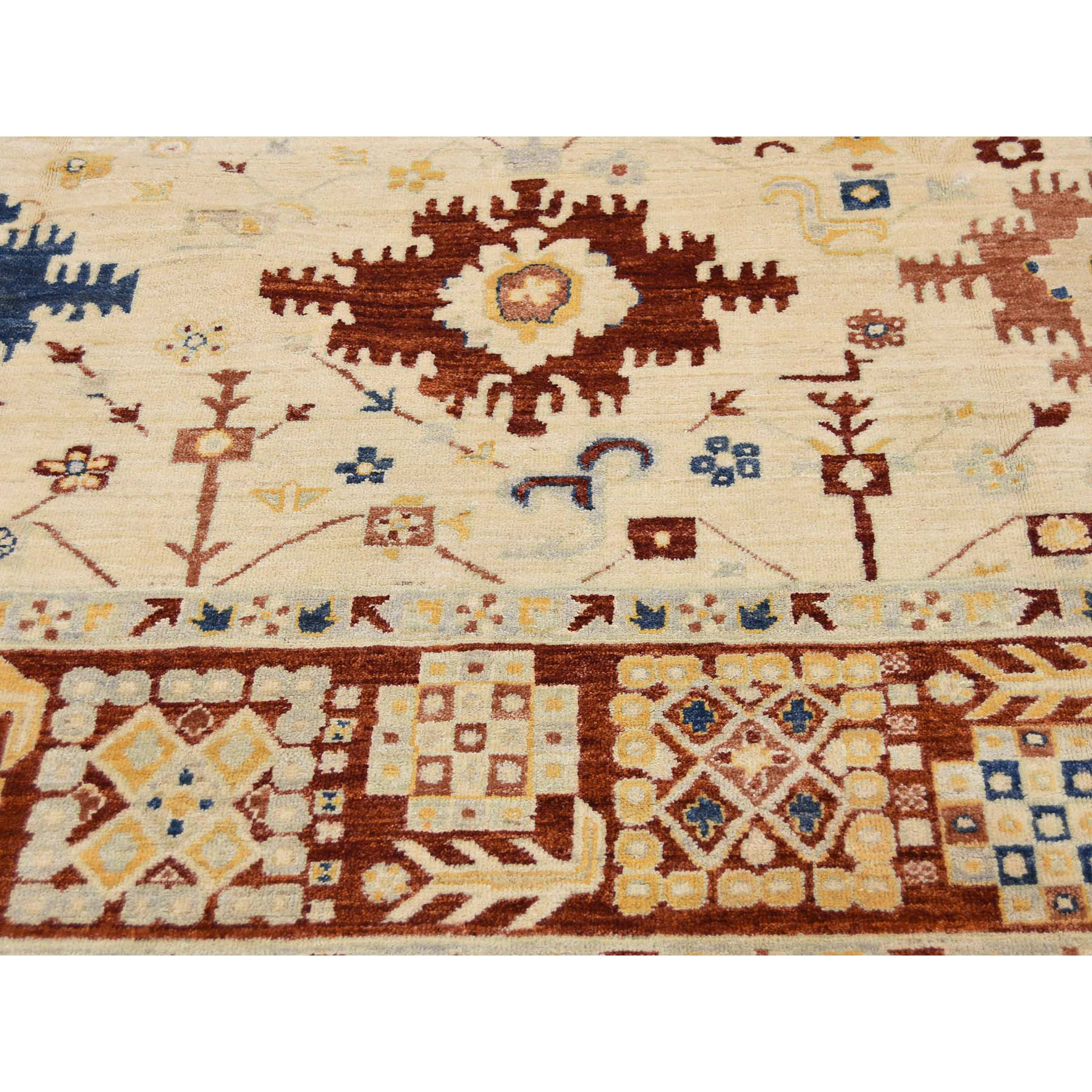 7'9''x9'9'' Peshawar With Karajeh Design Hand-Knotted Oriental Rug