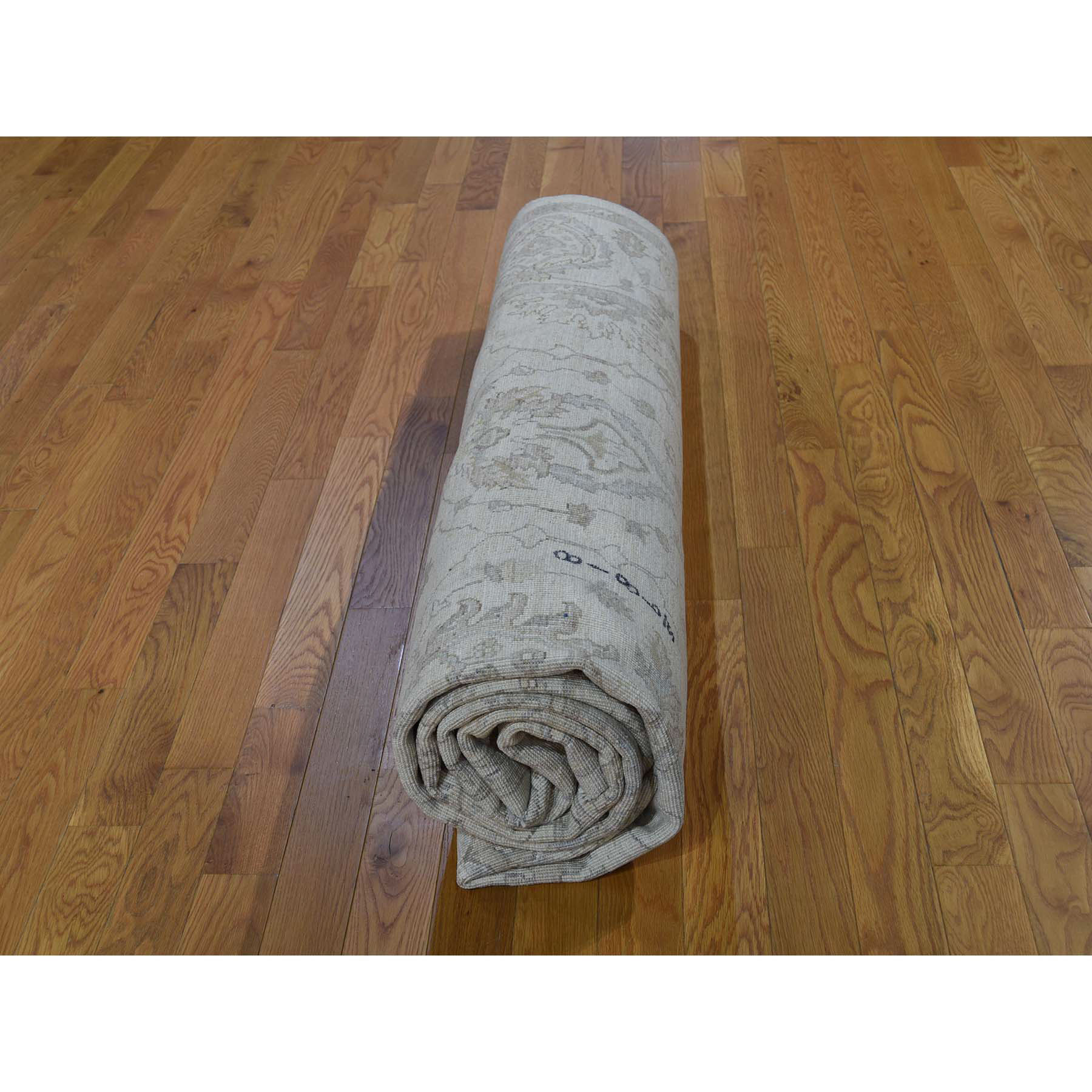 8-2--x10- White Wash Peshawar Pure Wool Hand-Knotted Oriental Rug