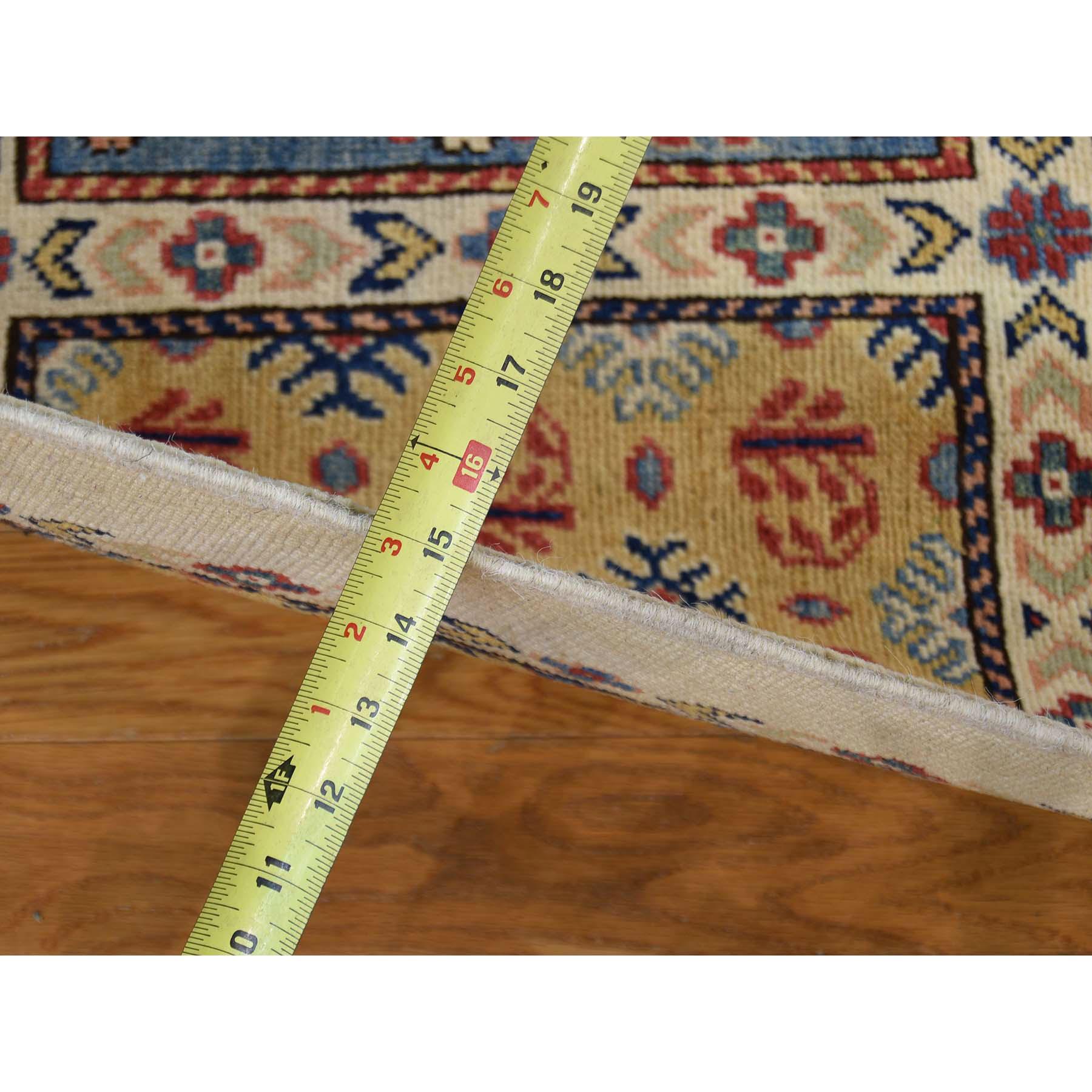 5'10''x8'10'' Ivory Special Kazak Garden Design Hand-Knotted Oriental Rug