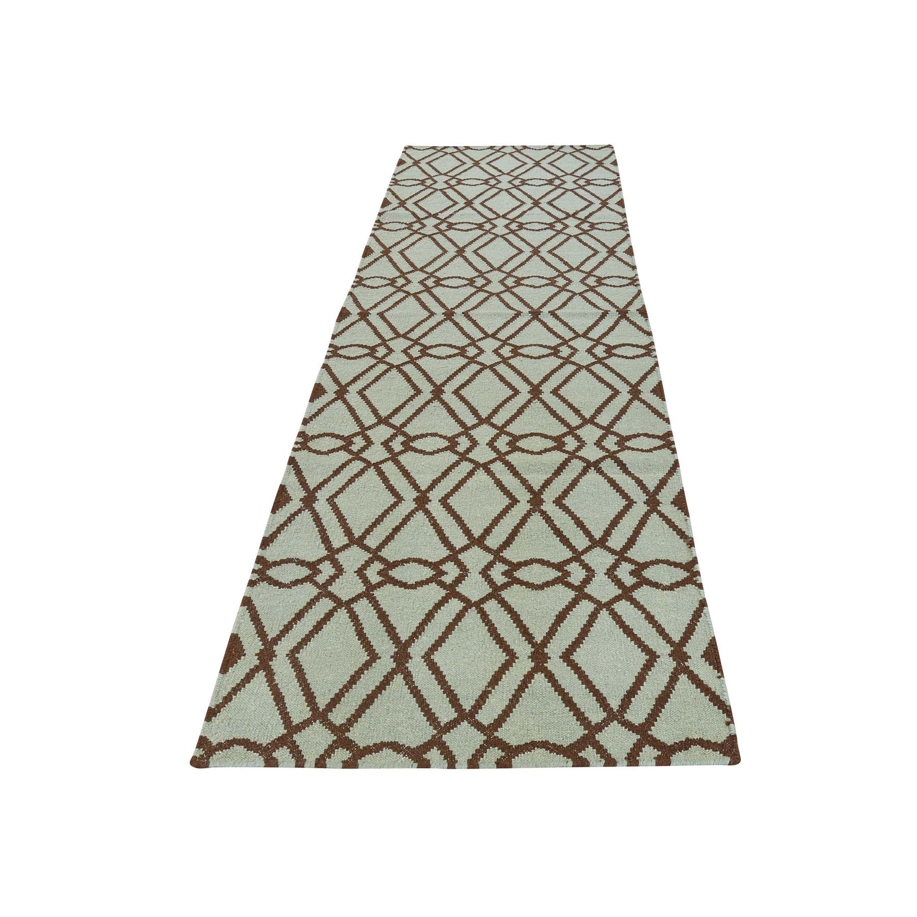 2'9''X6' Flat Weave Durie Kilim Hand Woven Reversible Runner Oriental Rug moac786c