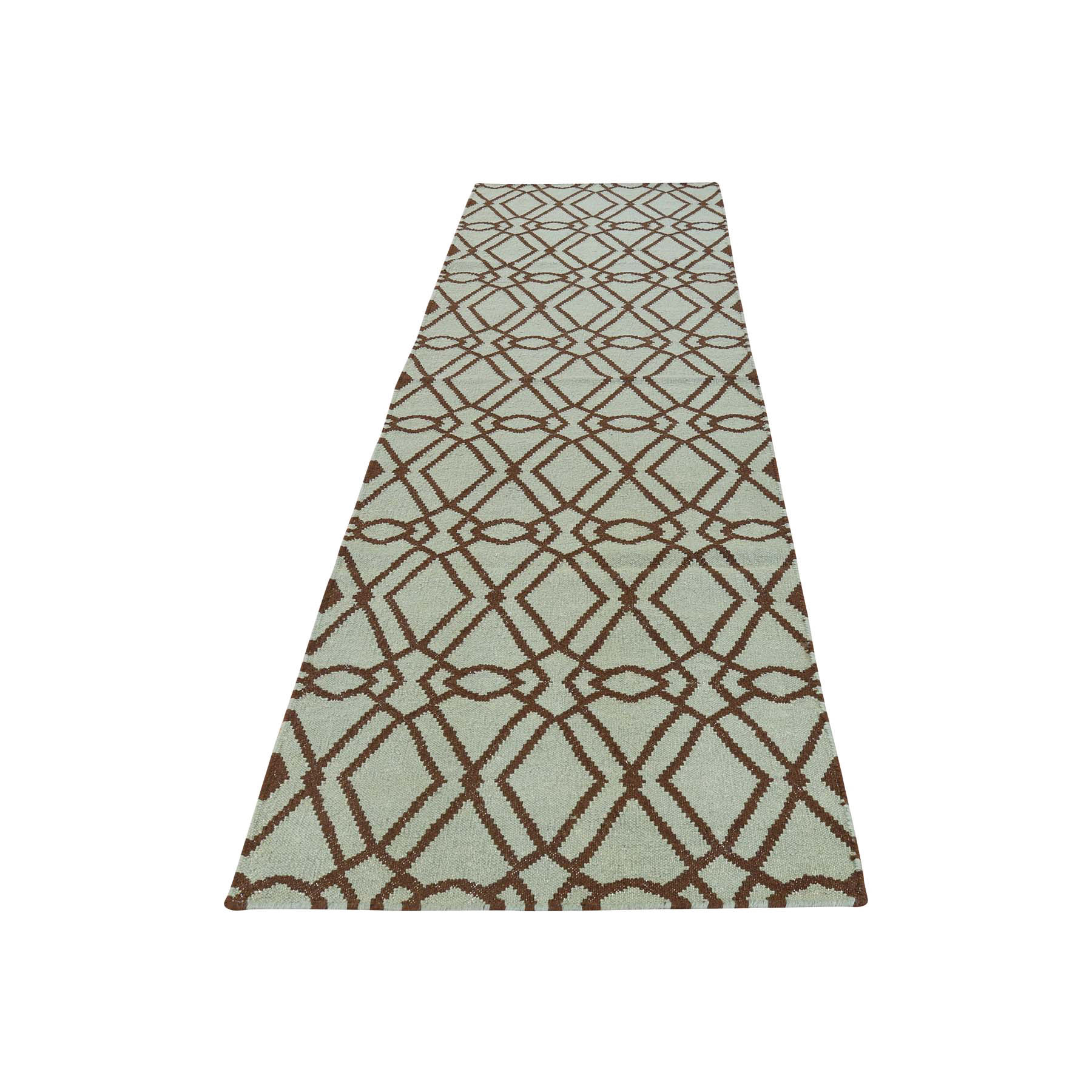2'9''X11'9'' Hand Woven Reversible Flat Weave Durie Kilim Runner Rug moac786d