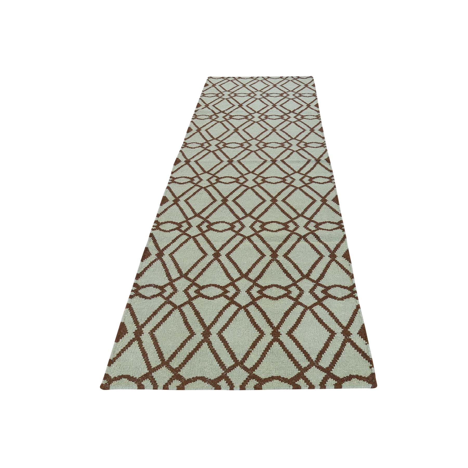 2'9''X6' Hand Woven Reversible Flat Weave Durie Kilim Runner Rug moac786e