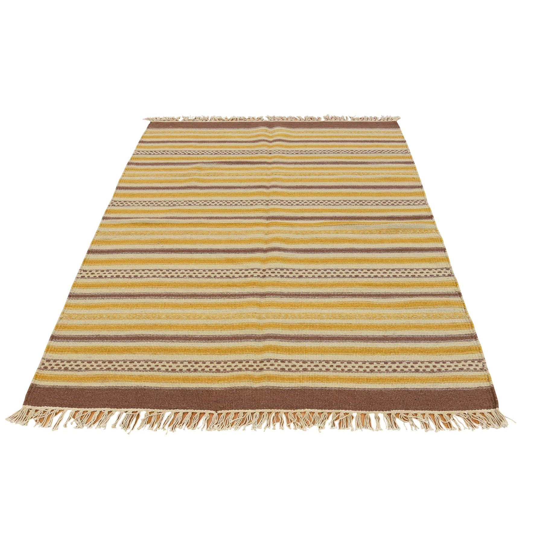 2'10''X5' Hand Woven Striped Durie Kilim Reversible Flat Weave Rug moac79cc