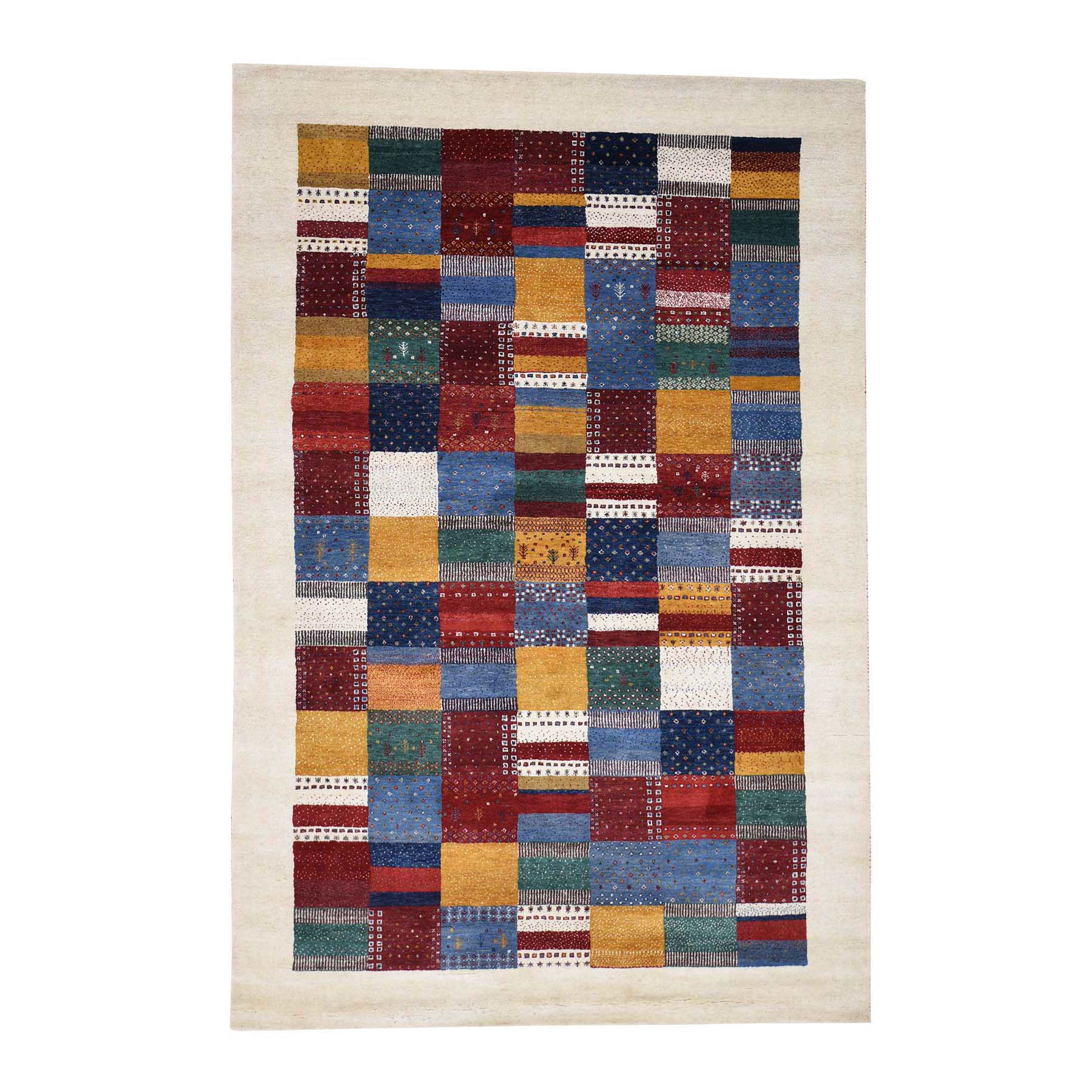 5'4''X8'1'' Persian Wool Hand-Made Lori Buft Gabbeh Patchwork Design Rug moac8aaa