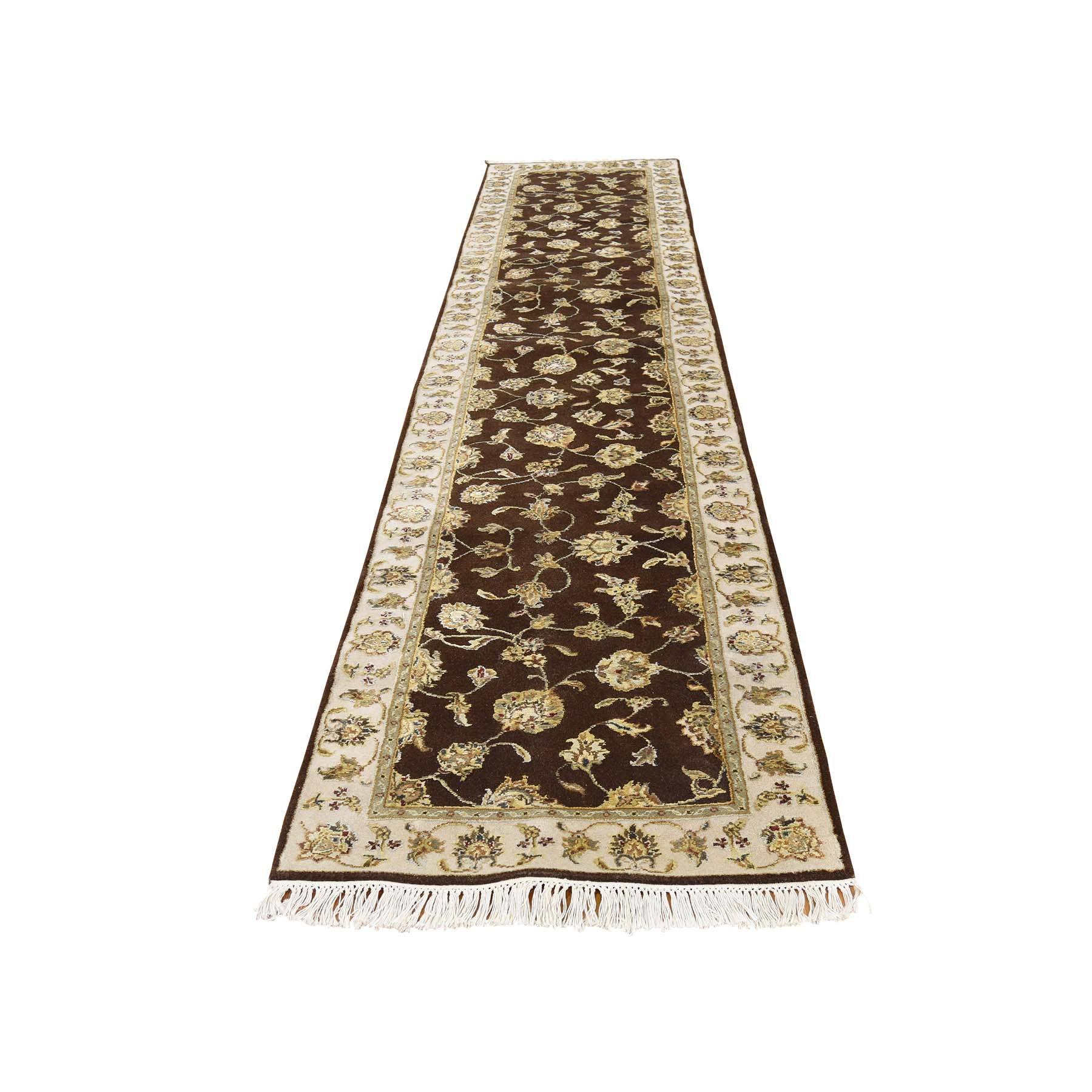 2'6''X12'1'' Hand-Knotted Half Wool Half Silk Rajasthan Runner Rug moac8c0c