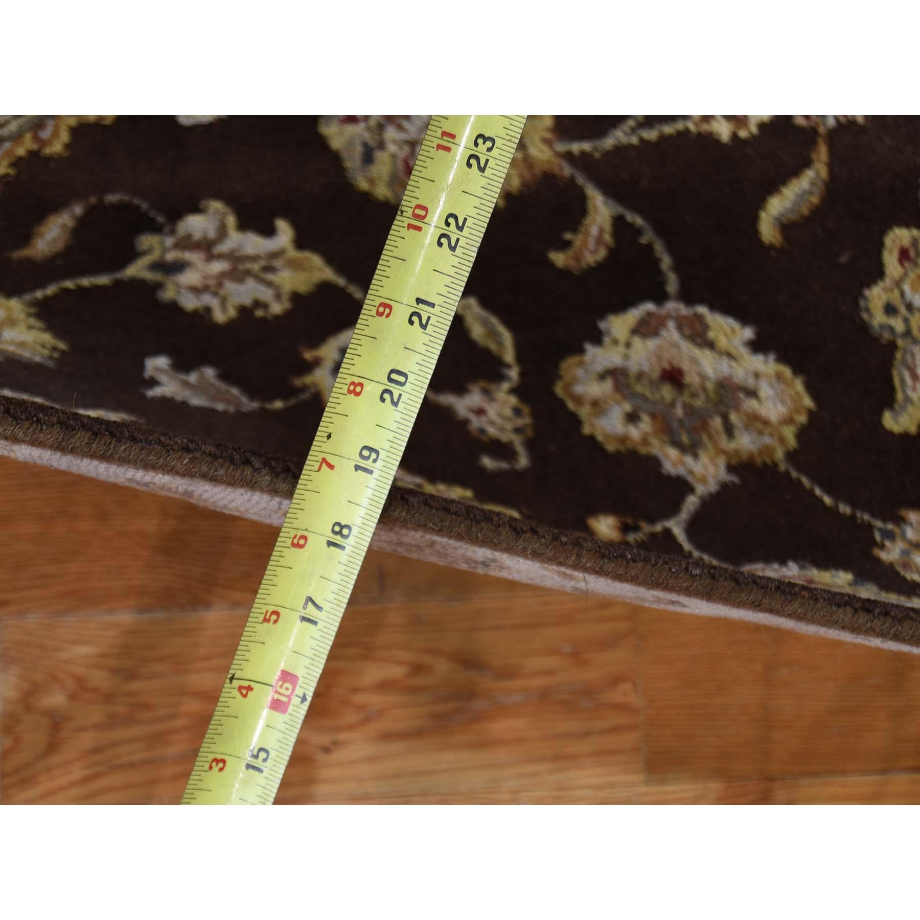 2-6--x12-1-- Hand-Knotted Half Wool Half Silk Rajasthan Runner Rug