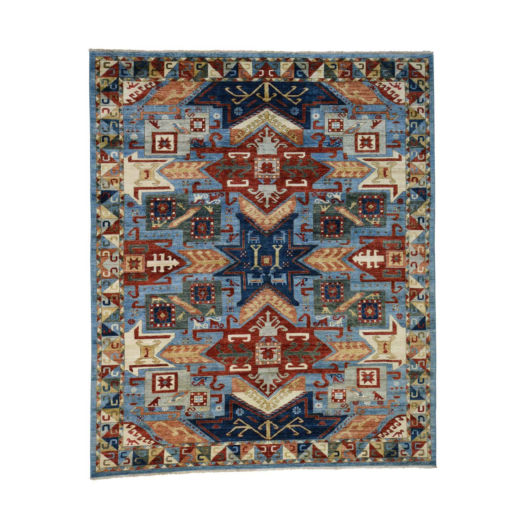 8'3''X9'10'' Hand-Knotted Peshawar With Kazak Design Oriental Rug  moac8cb0