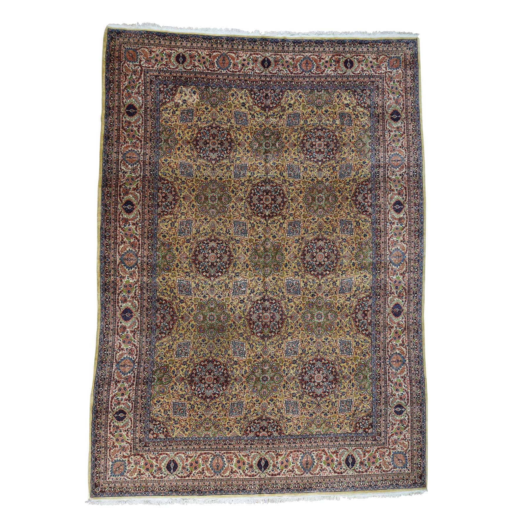 11'1''x15'7'' Antique Persian Sherkat Hand Knotted Mint Cond Oversize Rug