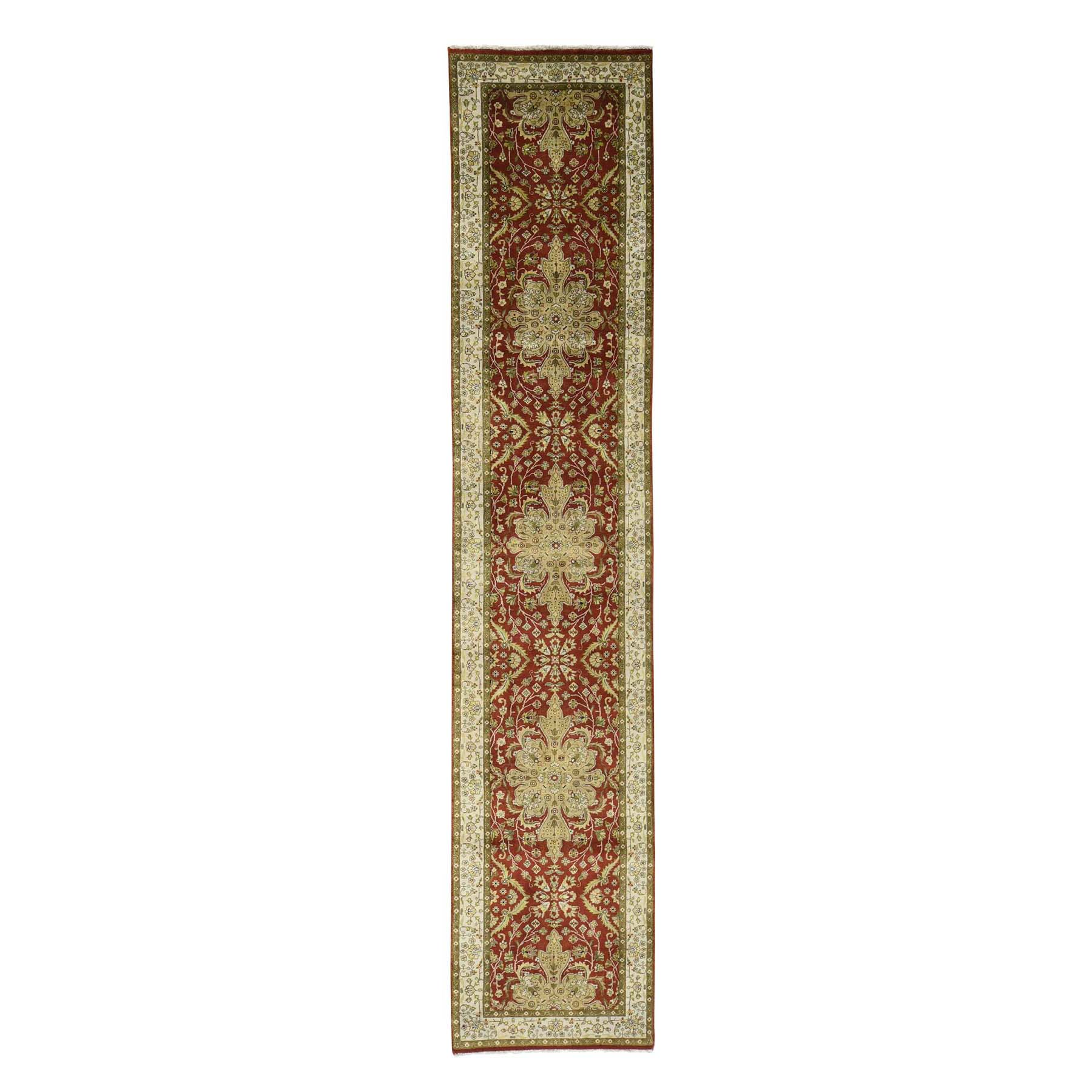 2'4''X11'5'' Kashan Revival New Zealand Wool Hand-Knotted 300 Kpsi Runner Rug moac8c6d