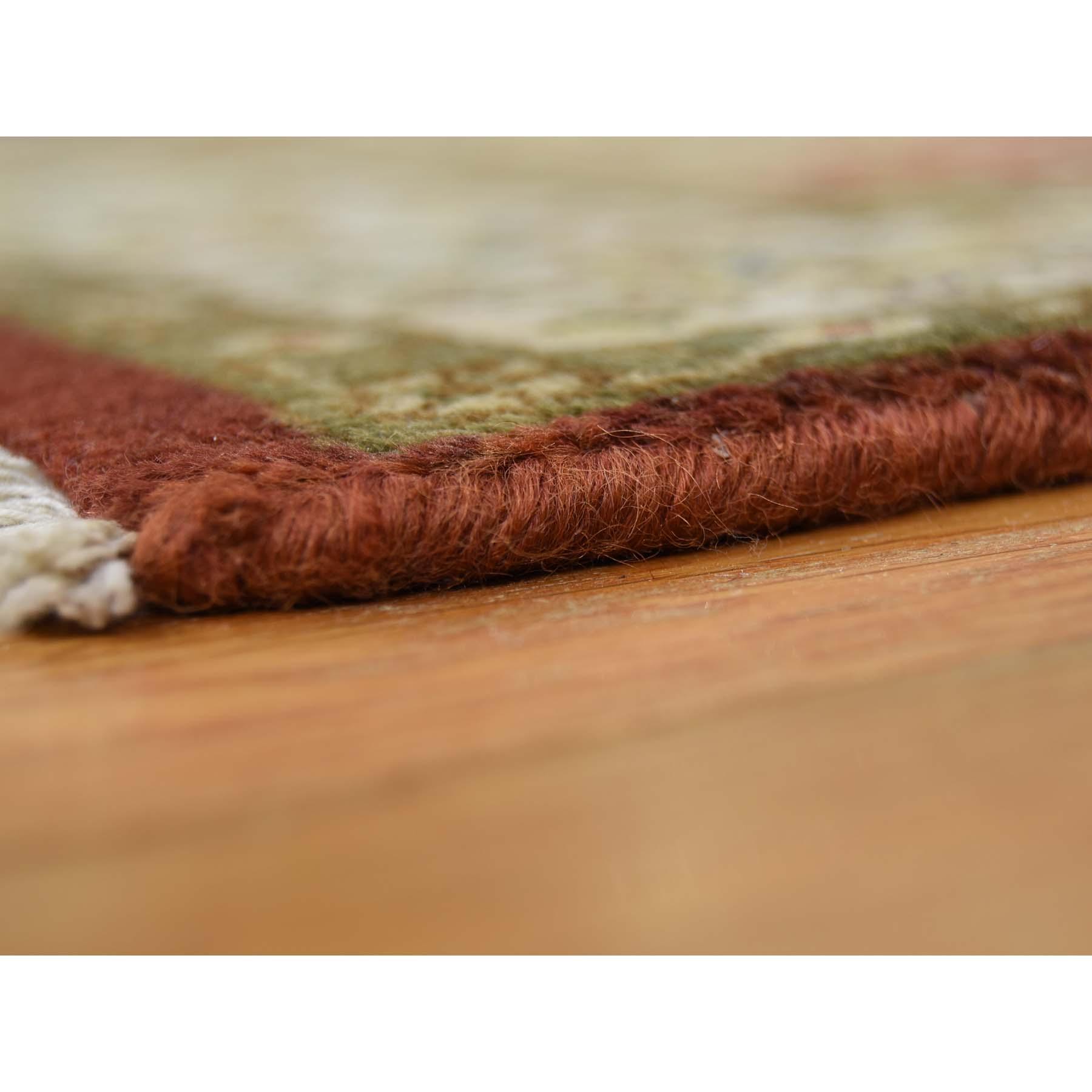2-4--x11-5-- Kashan Revival New Zealand Wool Hand-Knotted 300 Kpsi Runner Rug