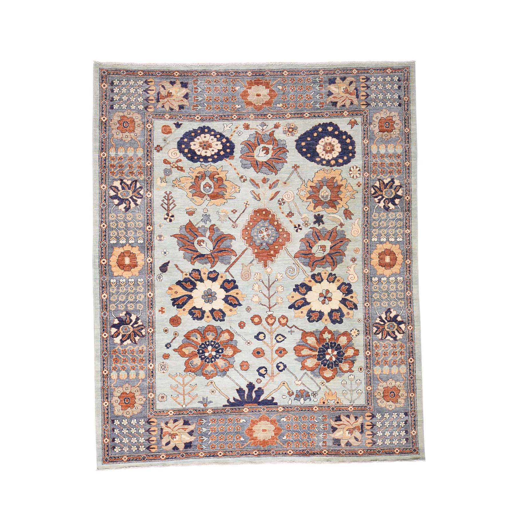8'2''X10' Peshawar With Antiqued Sultanabad Design Hand-Knotted Oriental Rug moac8da7