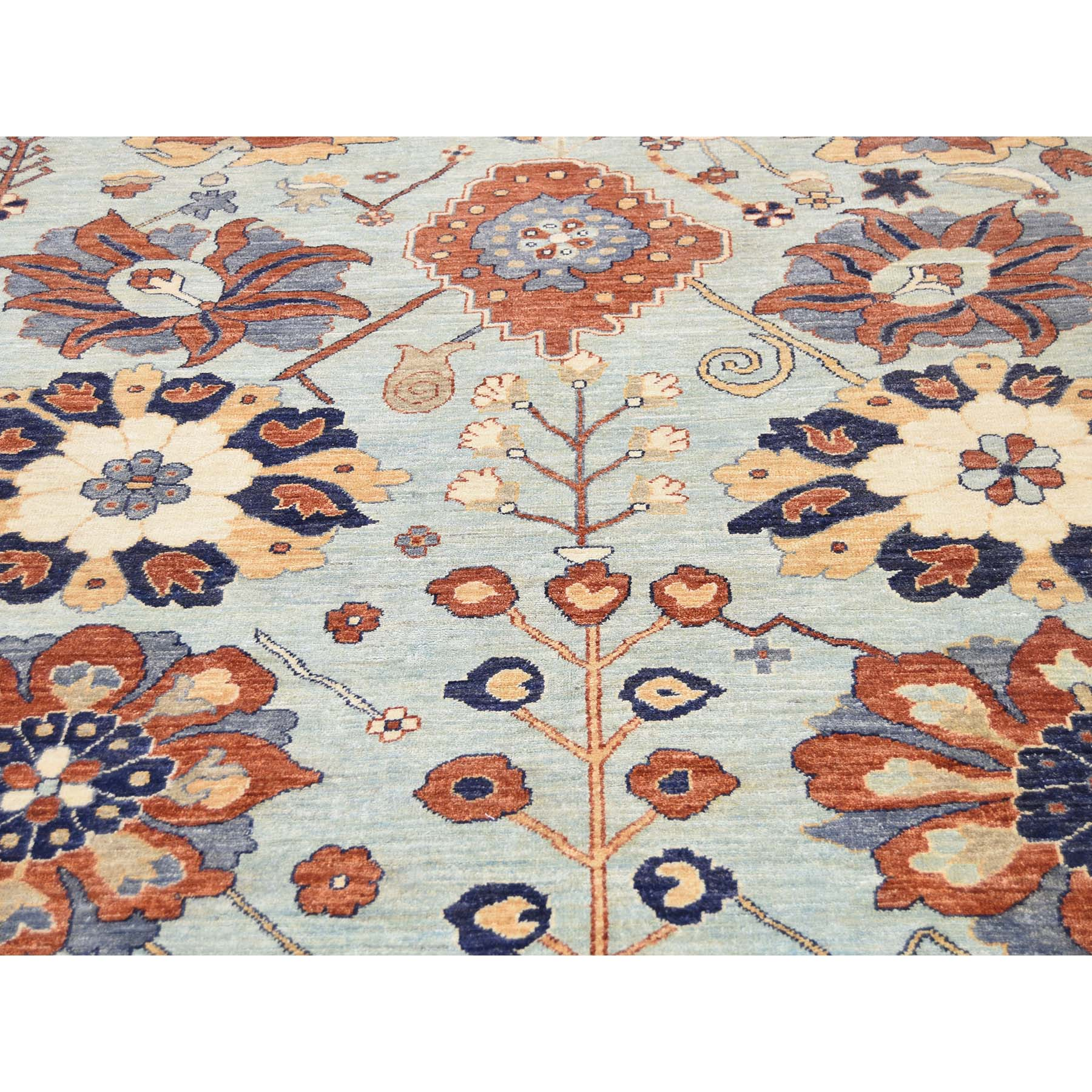 8'2''x10' Peshawar with Antiqued Sultanabad Design Hand-Knotted Oriental Rug