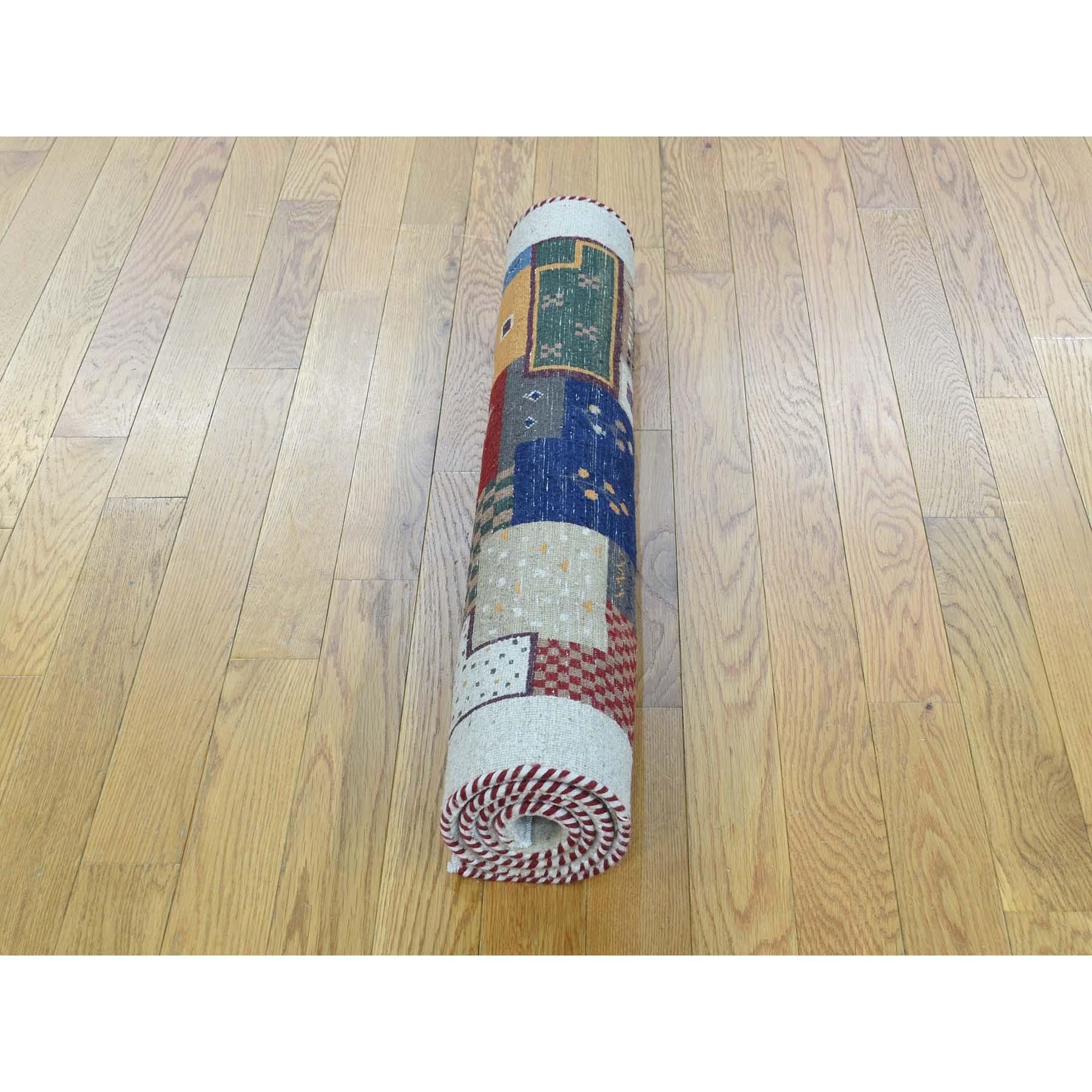 2-x3- Hand-Knotted Lori Buft Gabbeh 100 Percent Wool Oriental Rug