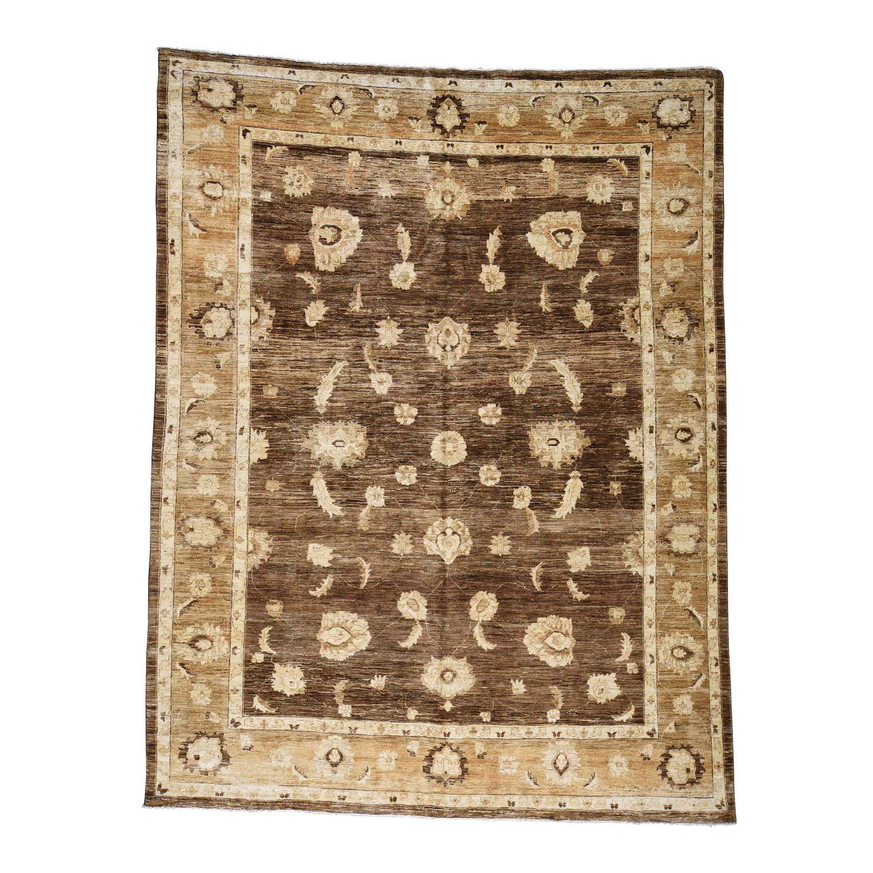 9'4''X12'4'' Hand Knotted Peshawar With Abrash Design Oriental Rug moac867c