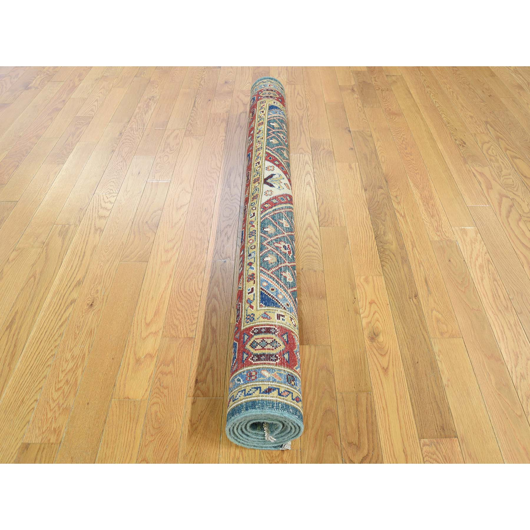 5-x6-6-- Hand-Knotted Pure Wool Special Kazak Tribal Design Oriental Rug