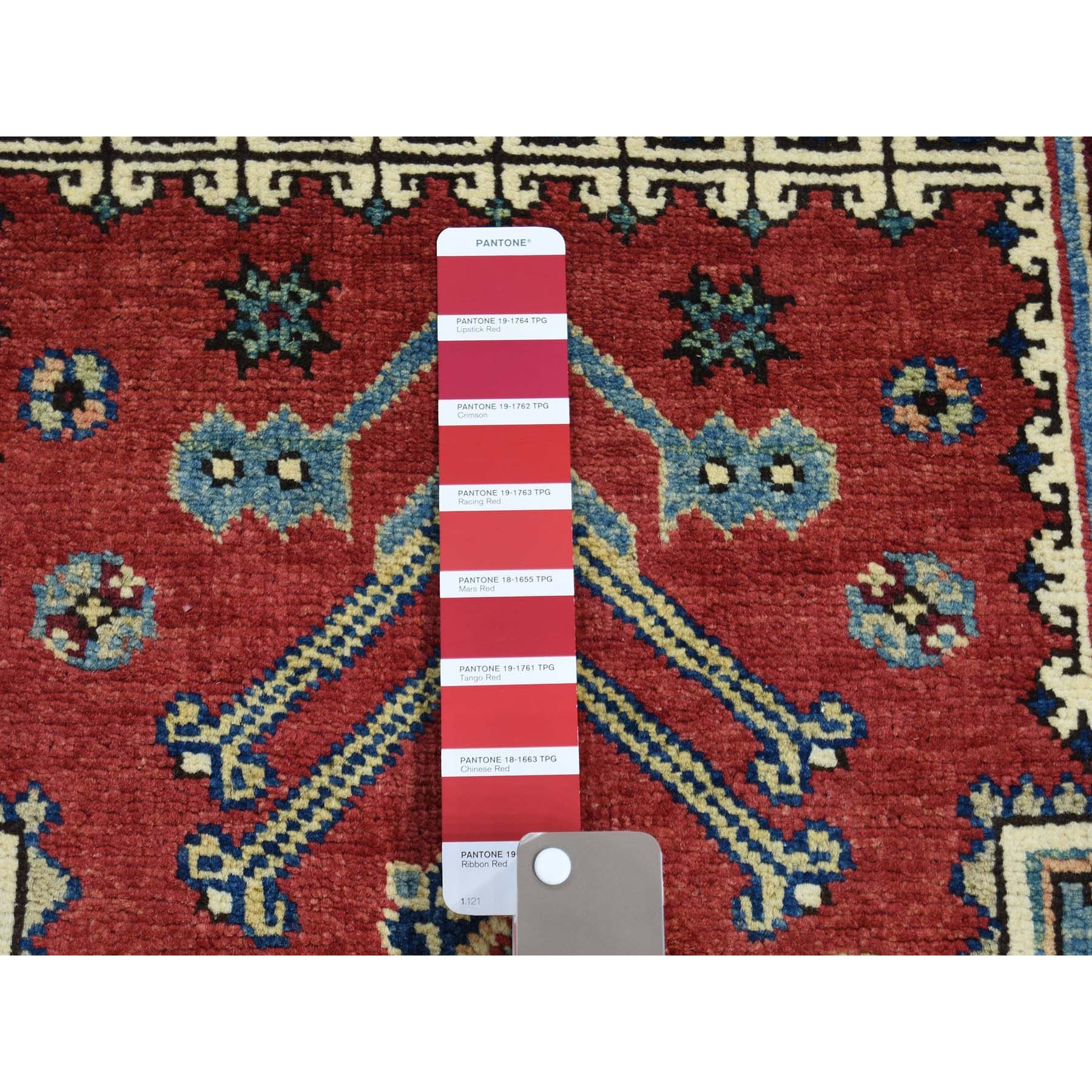 5-x6-9-- Hand-Knotted Pure Wool Red Special Kazak Oriental Rug