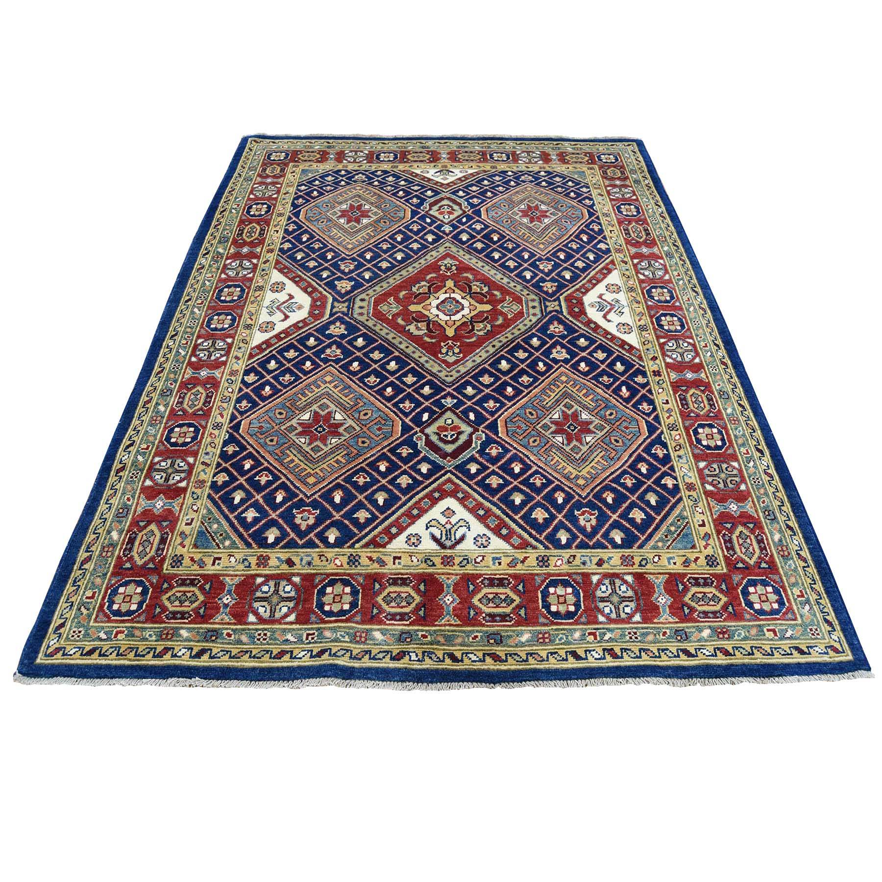 5'X6'5'' Navy Blue Special Kazak Pure Wool Hand-Knotted Oriental Rug moac88b9