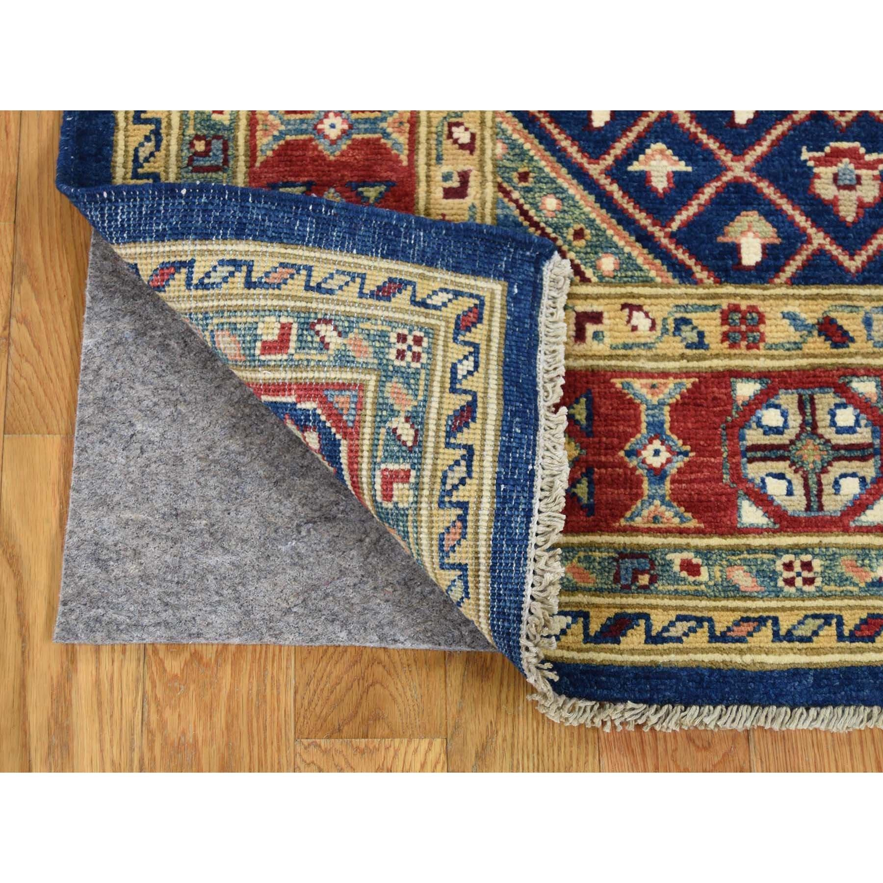 5-x6-5-- Navy Blue Special Kazak Pure Wool Hand-Knotted Oriental Rug